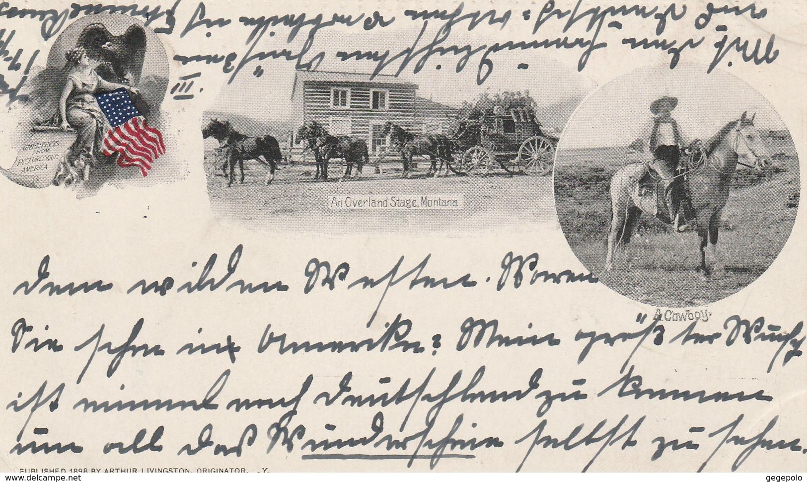 An Overland Stage ( Carte Précurseur écrite En 1899 à Destination De La France ) - United States