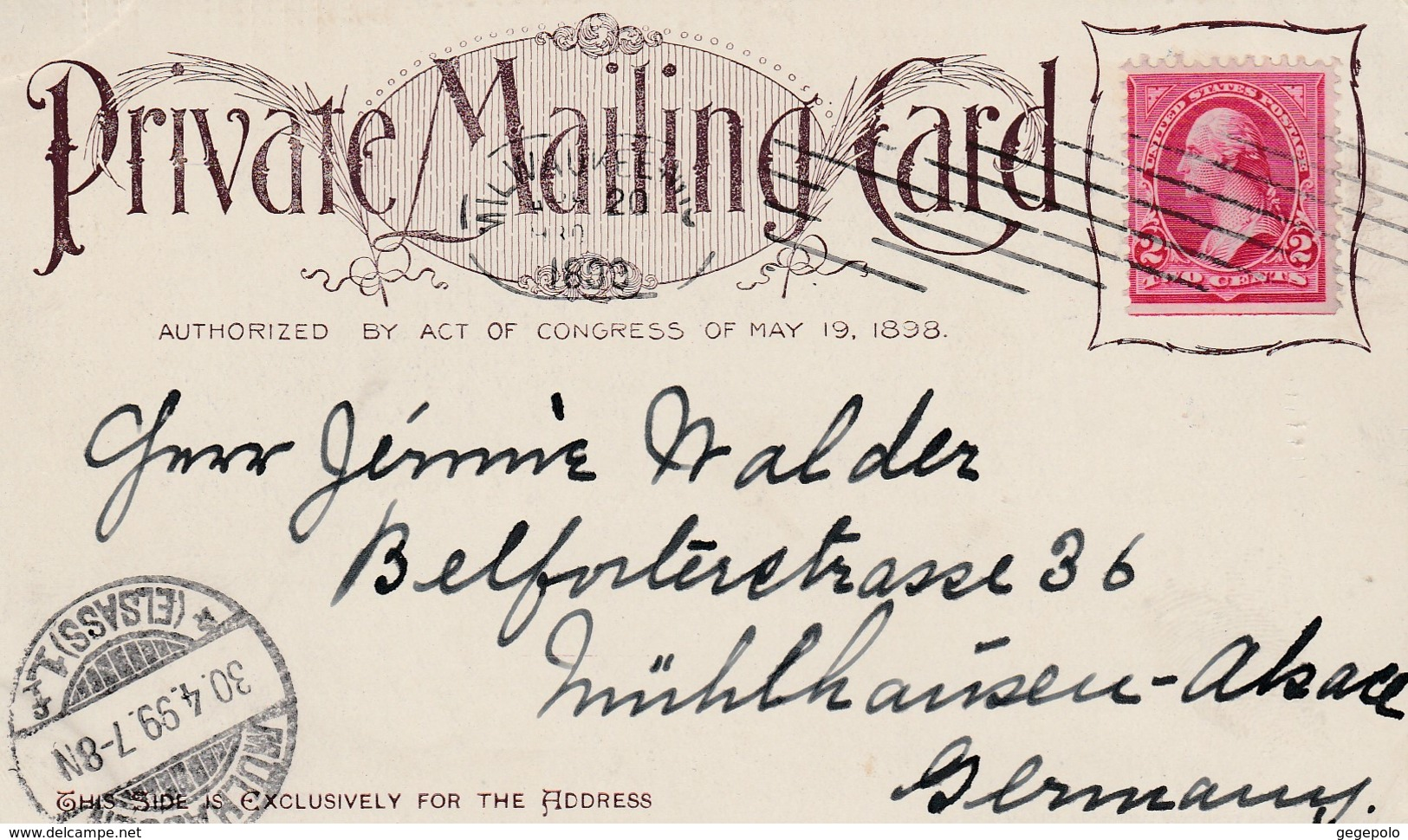 An Overland Stage ( Carte Précurseur écrite En 1899 à Destination De La France ) - Other