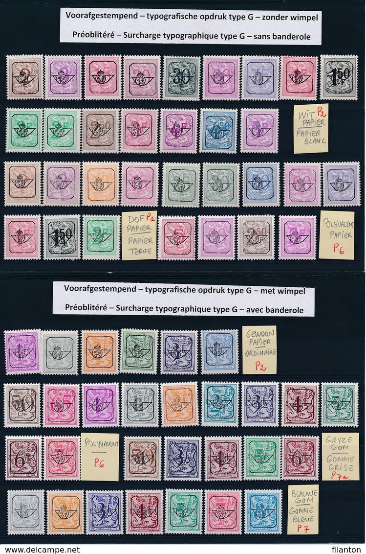 BELGIE - Selectie Nr 1647 - Typografische Preo's Type G - PRECANCELS - MNH** - Cote 46,35 € - Unclassified