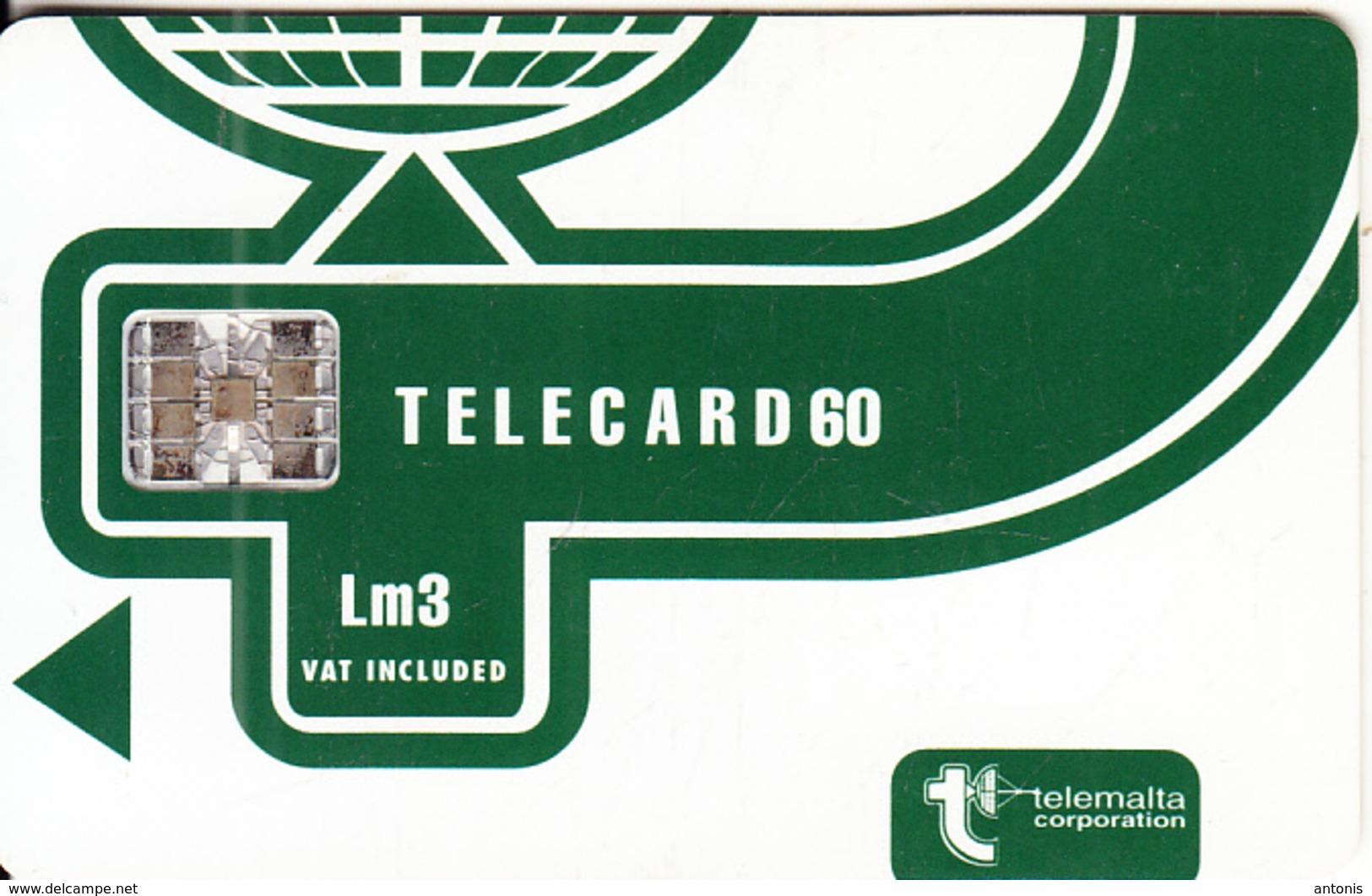 MALTA - Telecom Logo Lm 3(vat Included), CN : C56150776, Chip SC7, 05/95, Used - Malte