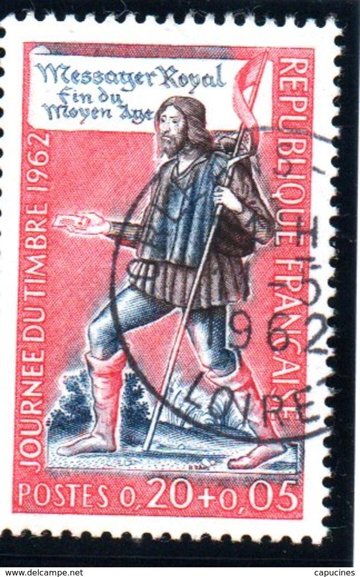 """J. Du Timbre - 20c+5c  """"messager Royal""""  N° 1332 Obl. - France"""