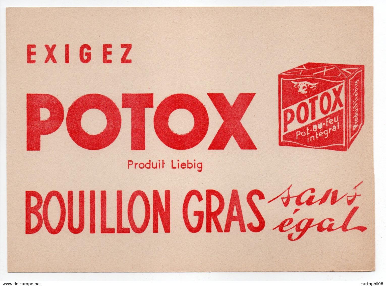 - BUVARD POTOX - Produit Liebig - BOUILLON GRAS - - Sopas & Salsas