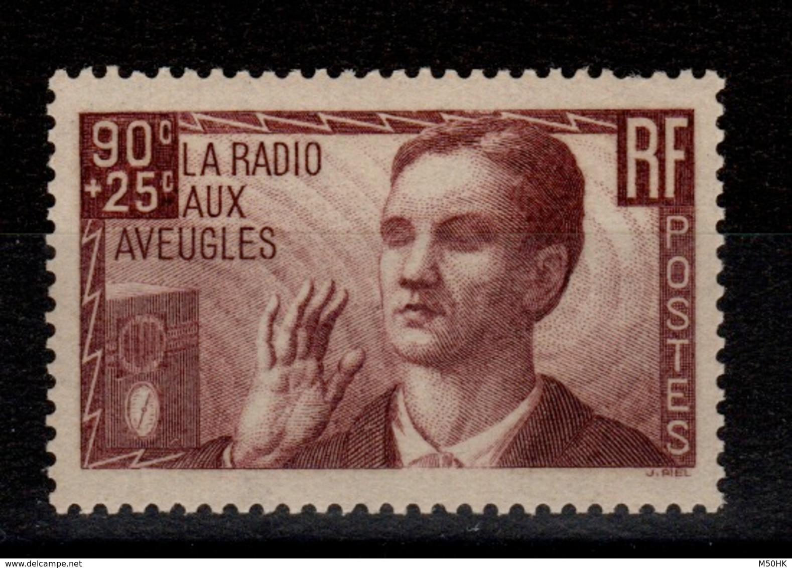 YV 418 N** , 1 Dent Nprd Courte , Radio Aux Aveugles Cote 20 Euros - Unused Stamps