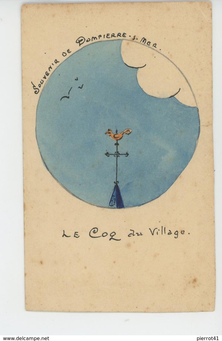 DOMPIERRE SUR MER - Jolie Carte Dessinée Et Peinte Représentant Le Coq Du Village - Altri Comuni