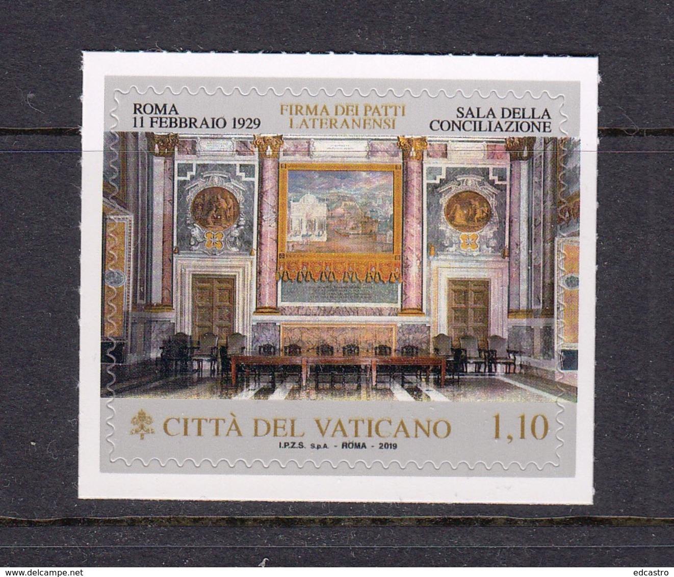 5.- VATICAN CITY 2019 90 ANNIVERSARY PATTI LATERANENSI VATICAN CITY STATE - Vaticano (Ciudad Del)