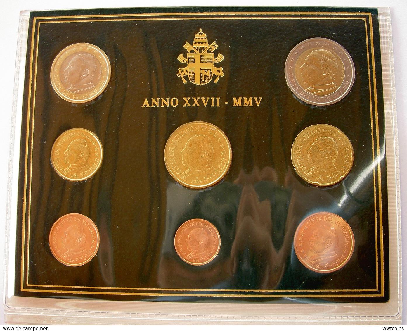 CITTA' DEL VATICANO DIVISIONALE 2005 XXVII PONTIFICATO GIOVANNI PAOLO II WOJTYLA JAN PAWEL VATICAN CITY ORIGINAL SET UNC - Vaticano