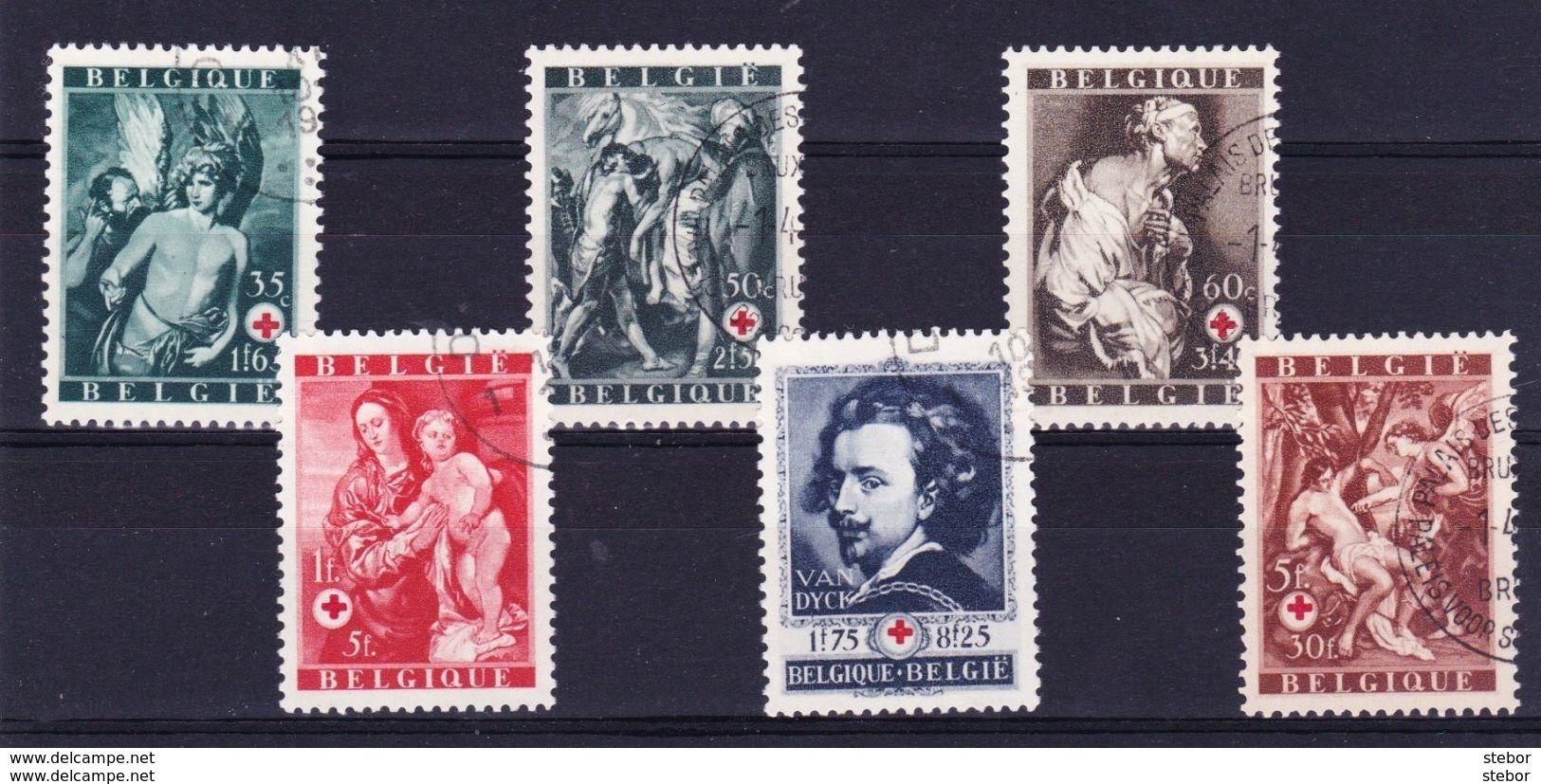 België 1944 Nr 647/52 G,  Zeer Mooi Lot Krt 3531 - Belgique