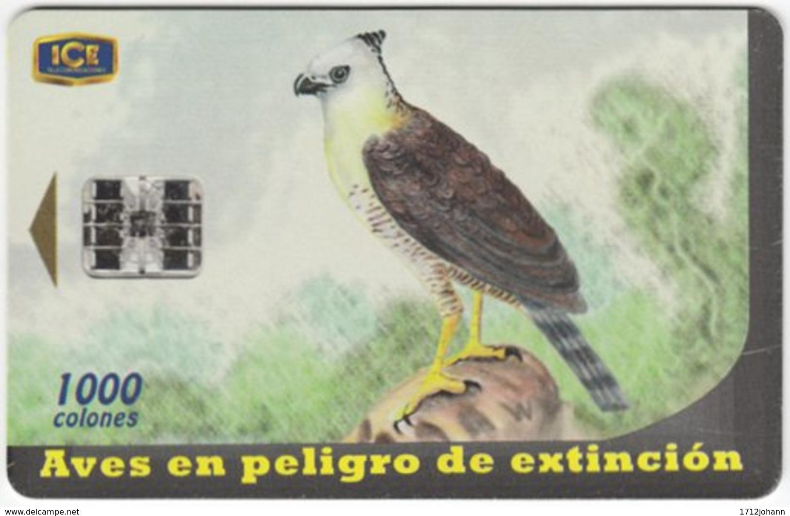 COSTA RICA A-184 Chip ICE - Painting, Animal, Bird - Used - Costa Rica
