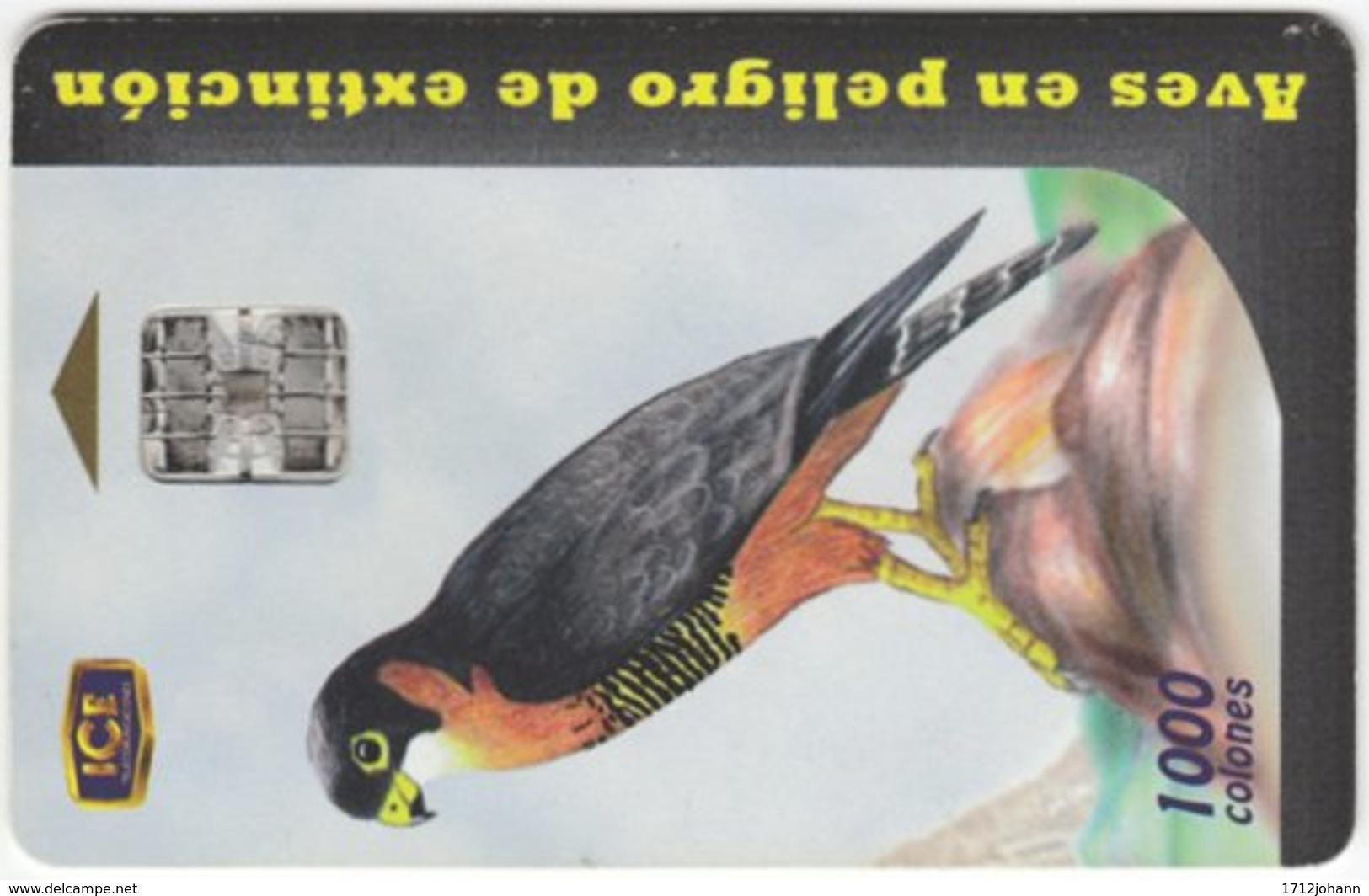 COSTA RICA A-186 Chip ICE - Painting, Animal, Bird - Used - Costa Rica