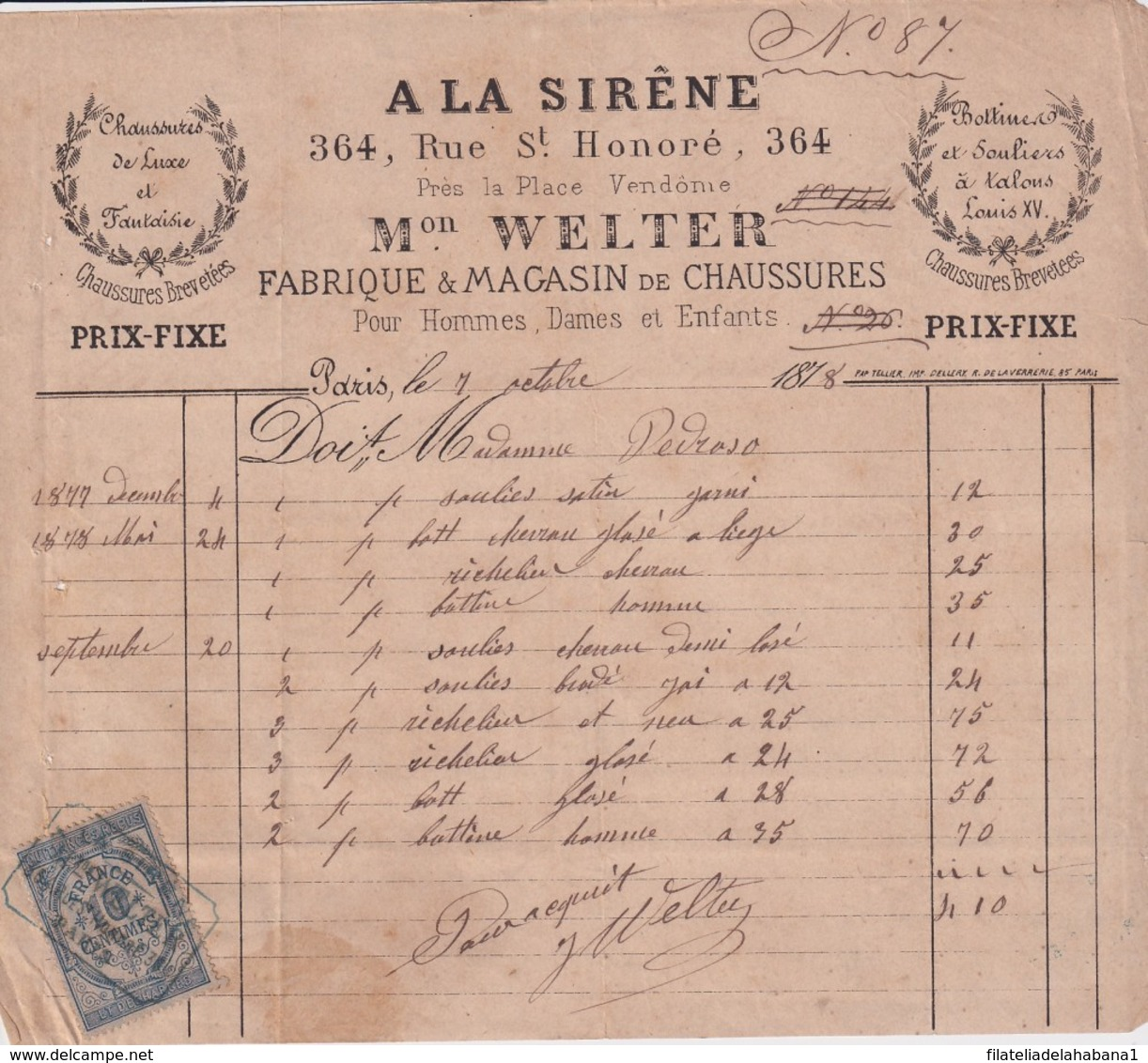 E6322 ENGLAND UK FRANCE REVENUE ILLUSTRATED BUSSINES INVOICES 1870'. - ... - 1799