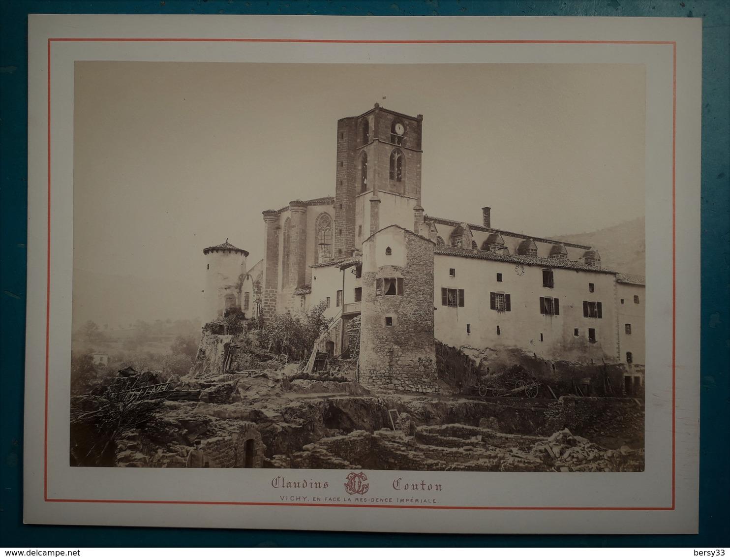 VICHY Et Ses Environs - CHATEAU A SITUER  - Photographie Ancienne Albuminée De Claudius Couton - Antiche (ante 1900)