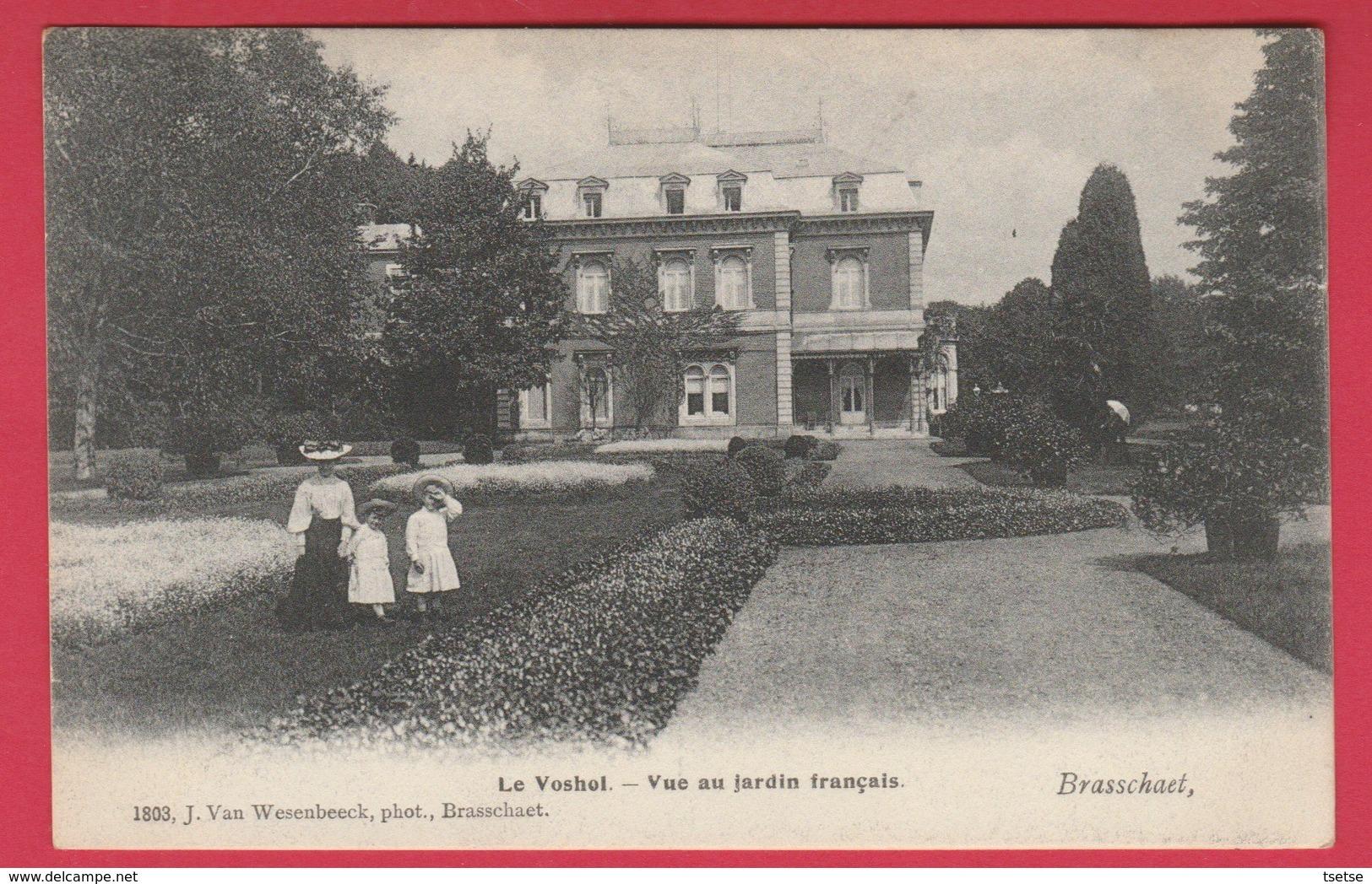 """Braschaat - """" Le Voshoi """" - Vue Au Jardin Français - 2 - 1908 ( Verso Zien ) - Brasschaat"""