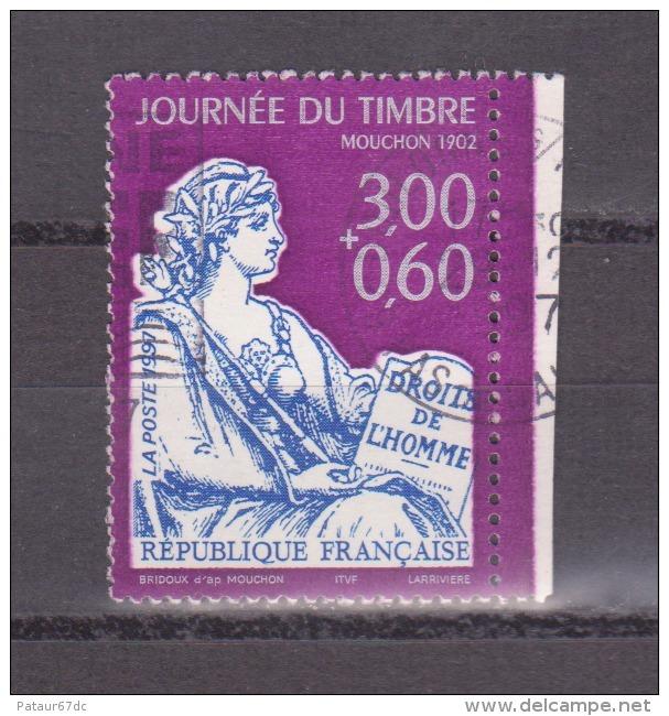 FRANCE / 1997 / Y&T N° 3051a : Journée Du Timbre (Mouchon) Avec Surtaxe De Carnet - Usuel - Oblitérés