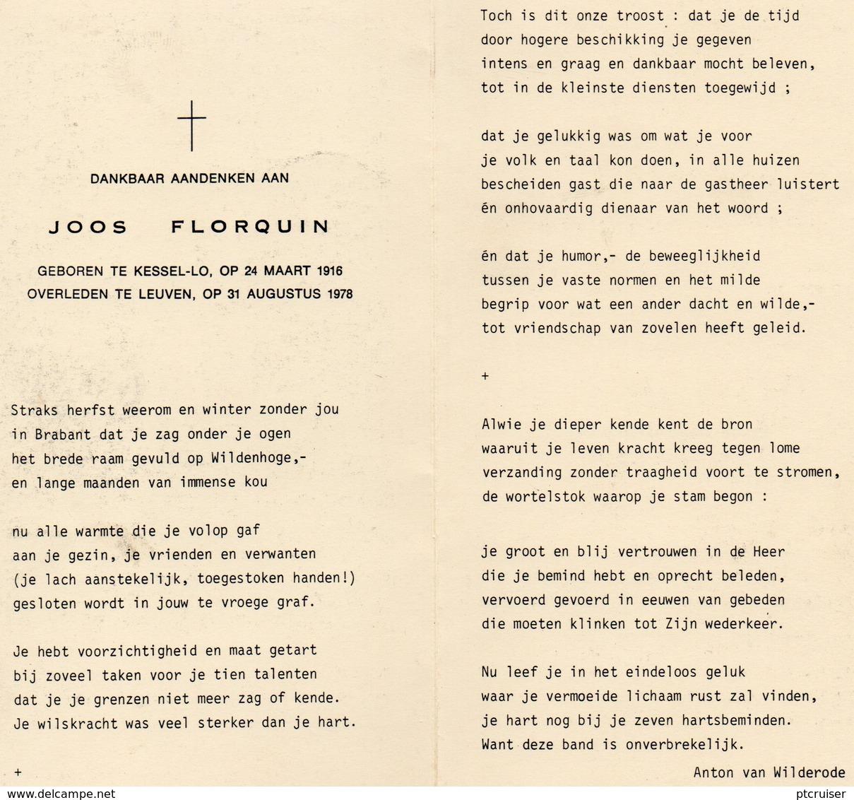JOOS FLORQUIN KESSEL-LO LEUVEN - Otras Colecciones