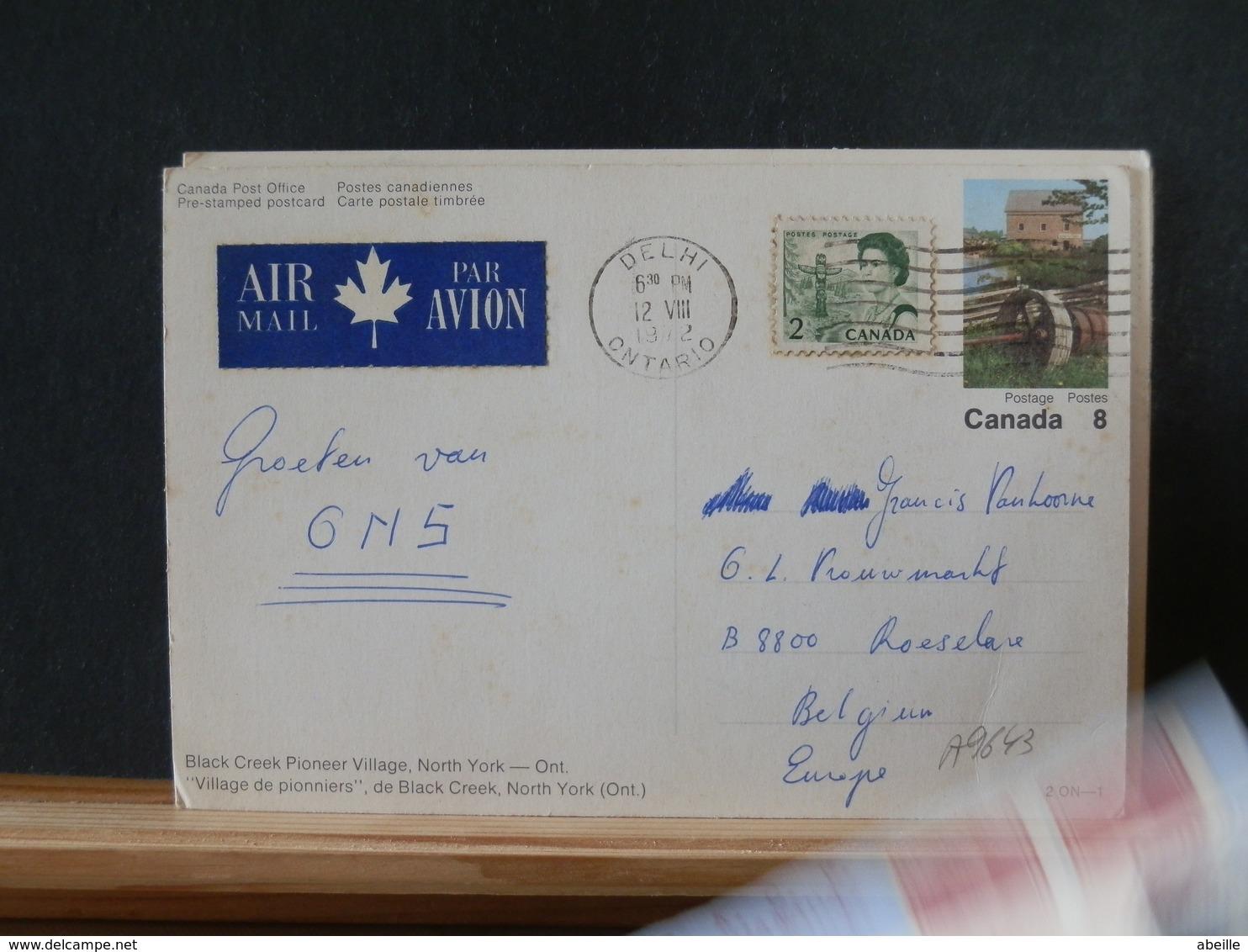 A9643 CP POUR LA BELG.  1972 - 1953-.... Elizabeth II