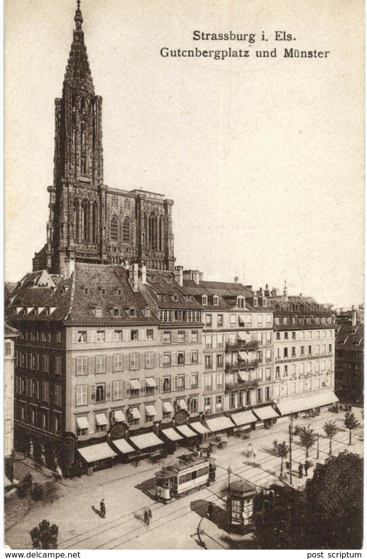 Strasbourg - Place Gutenberg Et Cathédrale - Tramway - Strasbourg
