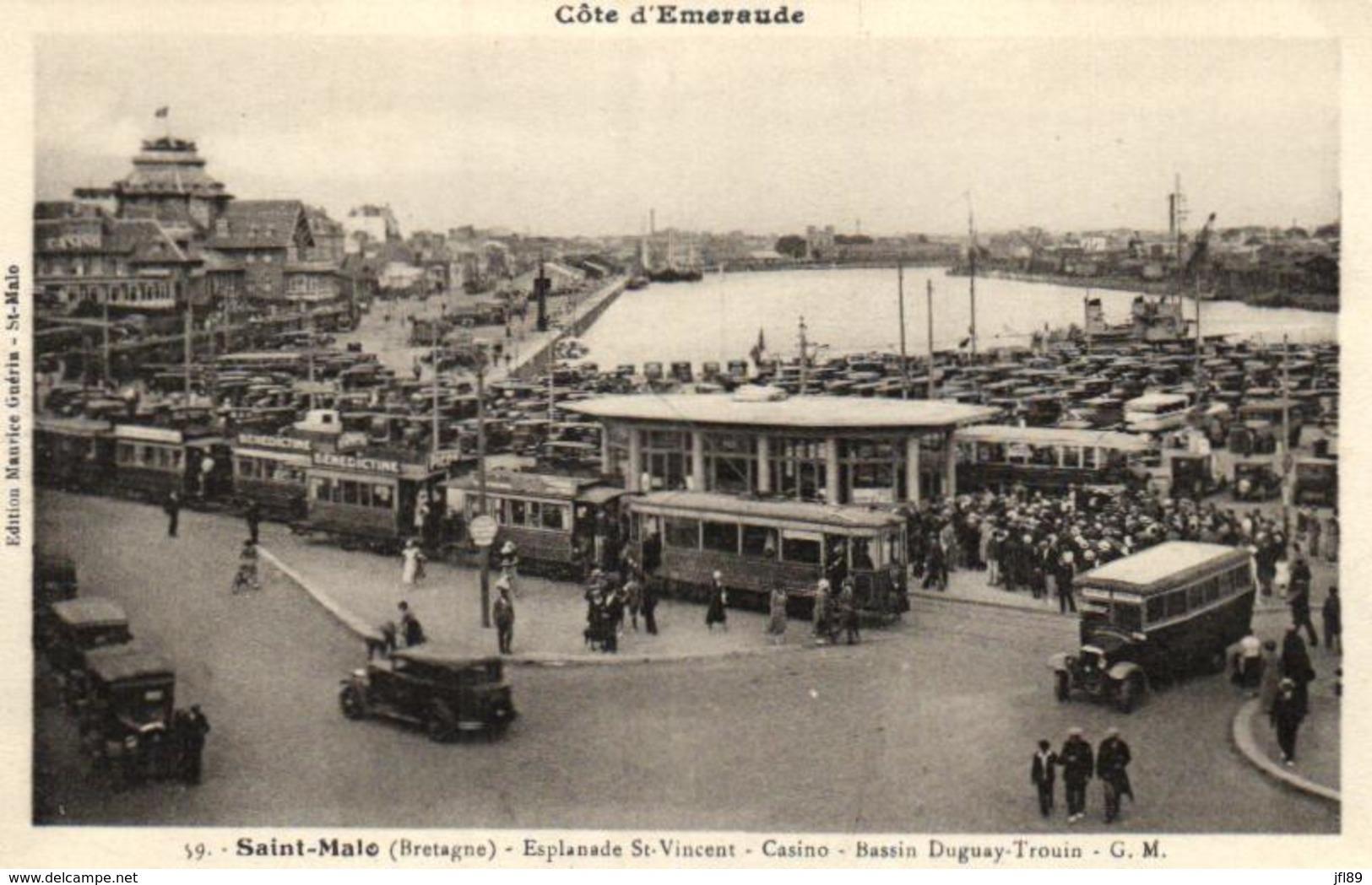 35 - Ile Et Vilaine - Saint Malo - Esplanade Saint Vincent - Csino - Bassin Duguay-Trouin - C 7294 - Saint Malo
