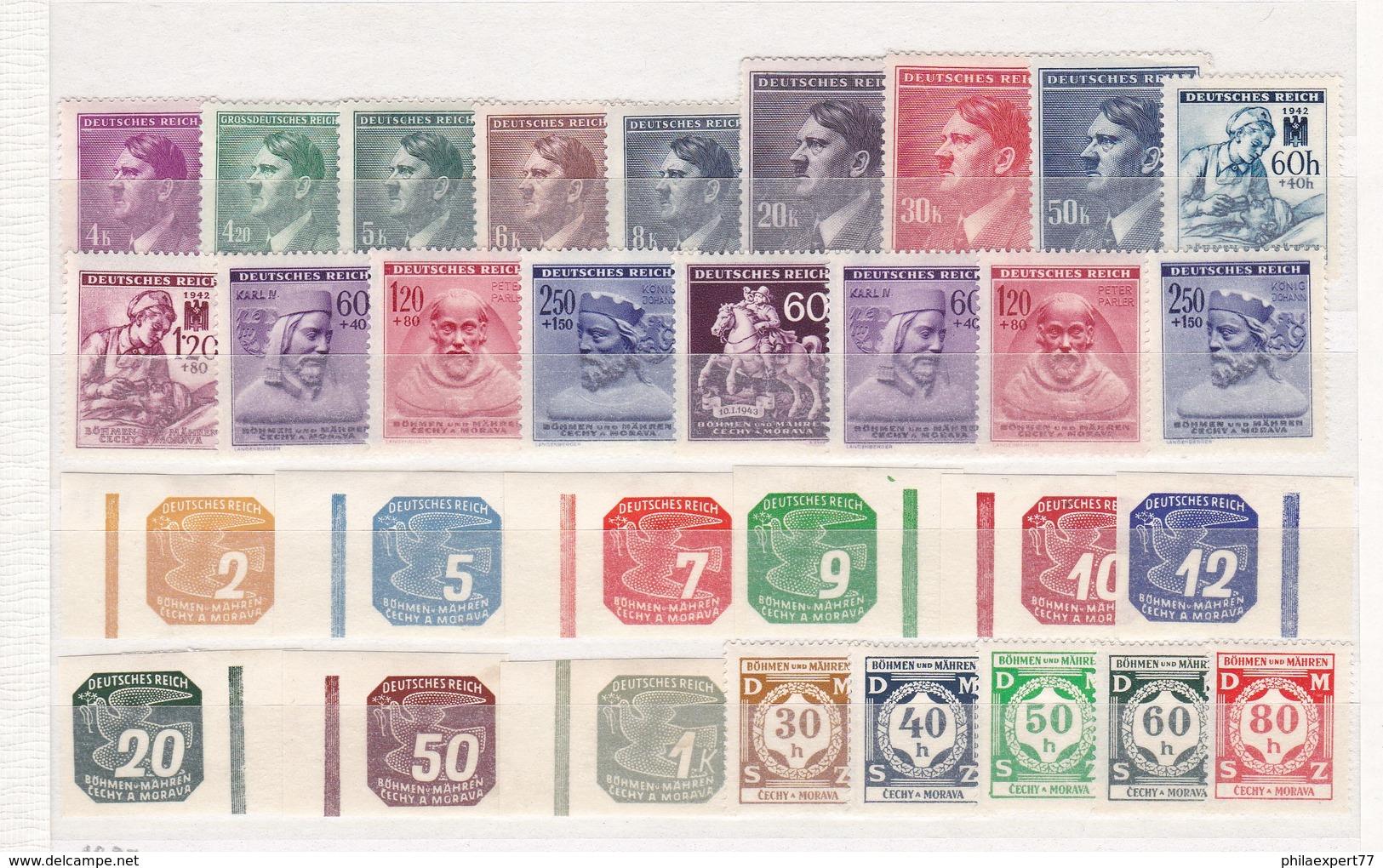 Böhmen Und Mähren - Sammlungsreste - Ungebr. - 2. - Occupation 1938-45