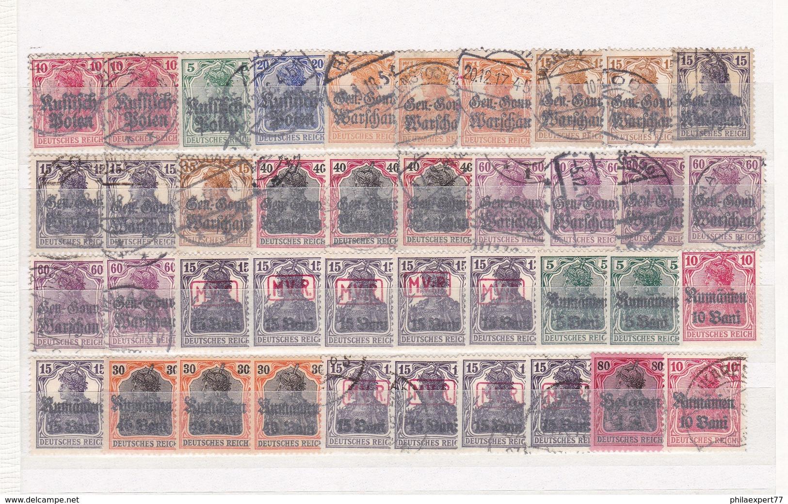 Deutsche Besetzungen 1914/18 - Sammlungsreste - Gest./Ungebr. - 2. - Besetzungen 1914-18