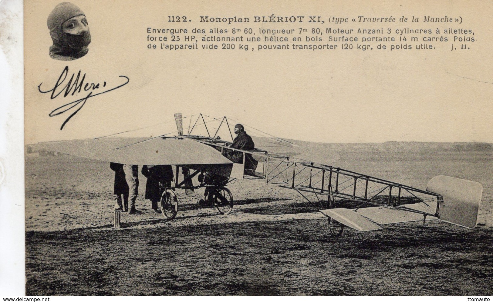 Monoplan Blériot XI  -  Type 'Traversée De La Manche'  -  CPA - ....-1914: Precursores