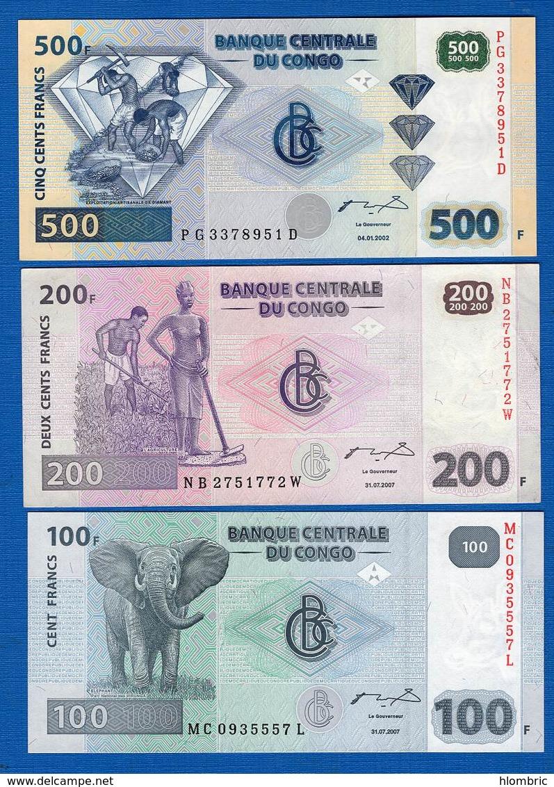 Congo  Ex  Belge  3  Billets - Kongo