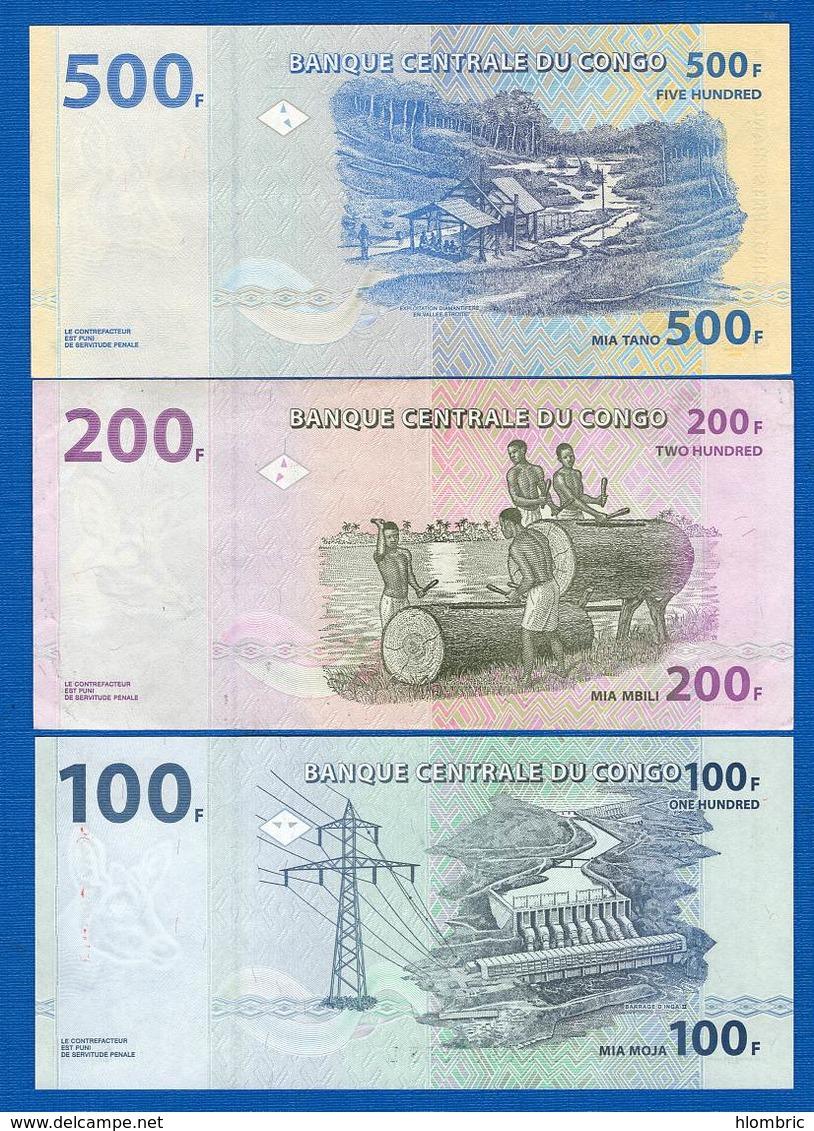 Congo  Ex  Belge  3  Billets - República Del Congo (Congo Brazzaville)