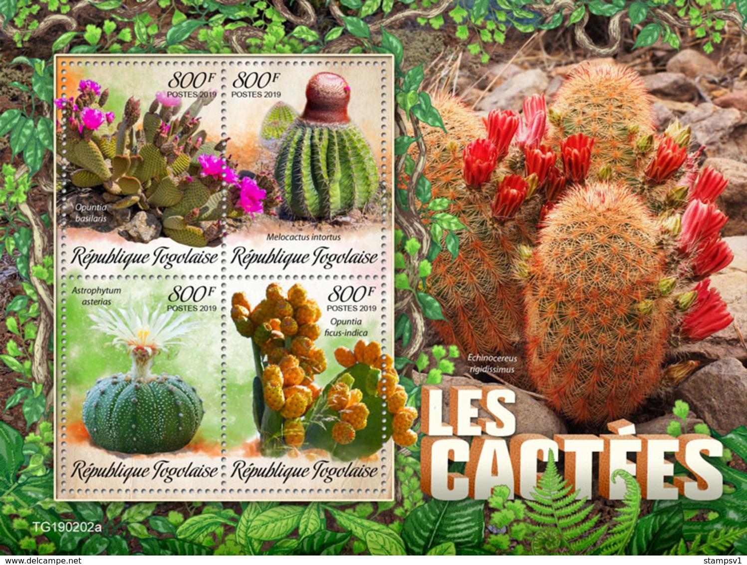 Togo.  2019 Cactus. (0202a)  OFFICIAL ISSUE - Sukkulenten