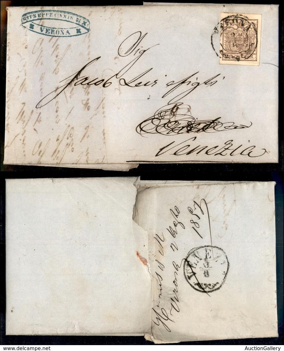 Antichi Stati Italiani - Lombardo Veneto - 30 Cent (21e) Con Sottile Linea (spazio Tipografico) In Alto A Sinistra - Let - Unclassified