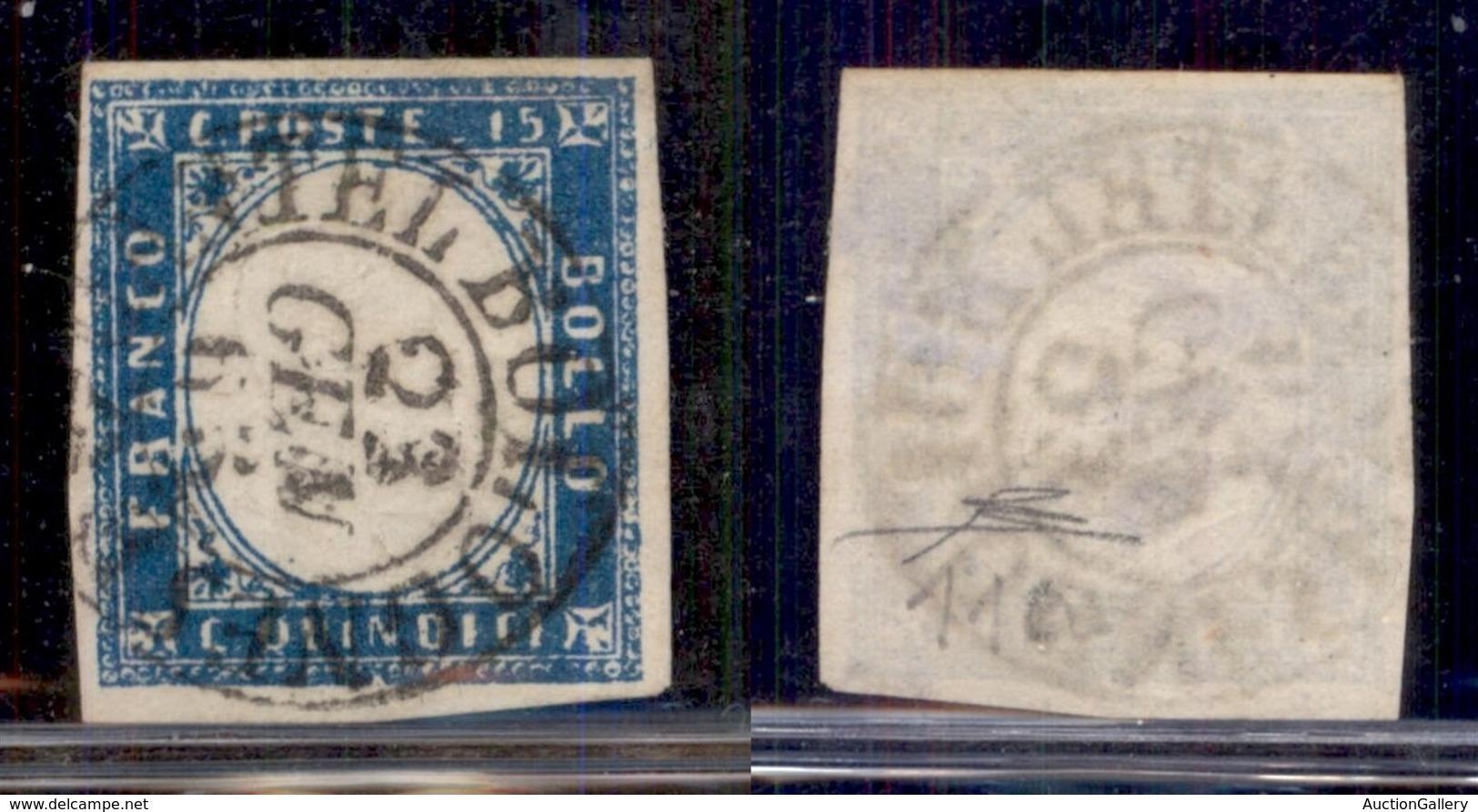Regno - Posta Ordinaria  - 1863 - 20 Cent (11c - Cobalto Latteo) - Usato A Castel Bolognese 23.1.63 - Cert Diena (2000) - Unclassified