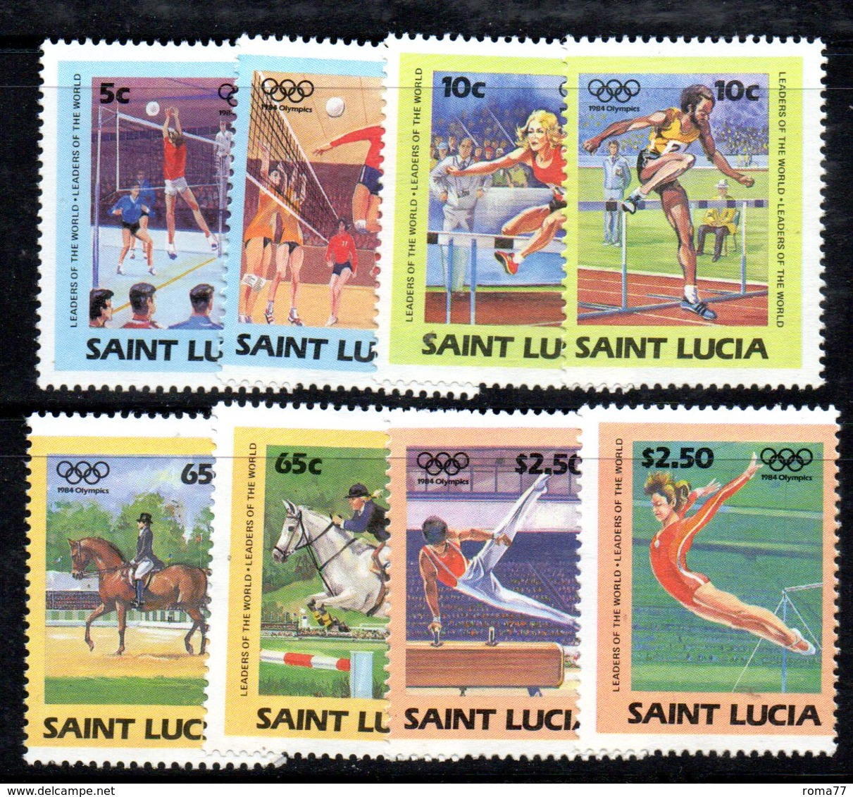 APR1548 - ST. LUCIA 1984 , Yvert Serie   N 668/675  ***  MNH  OLIMPIADI LOS ANGELES - St.Lucia (1979-...)
