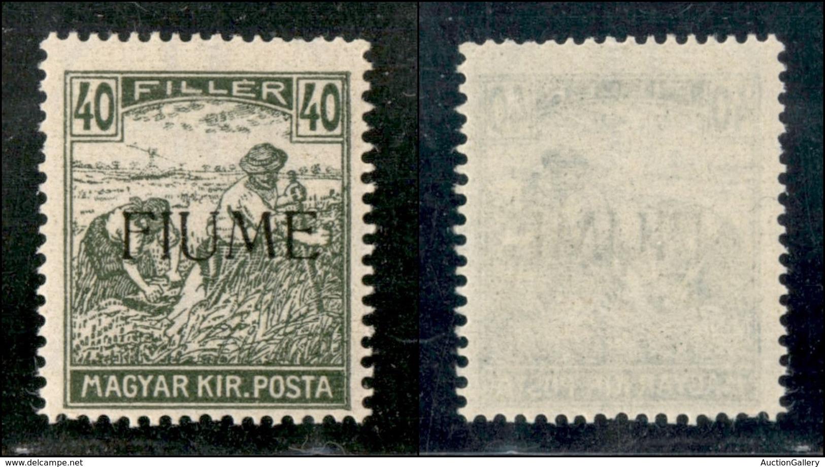 Occupazioni I Guerra Mondiale - Fiume - 1918 - 40 Filler (13) - Gomma Integra (375) - Stamps