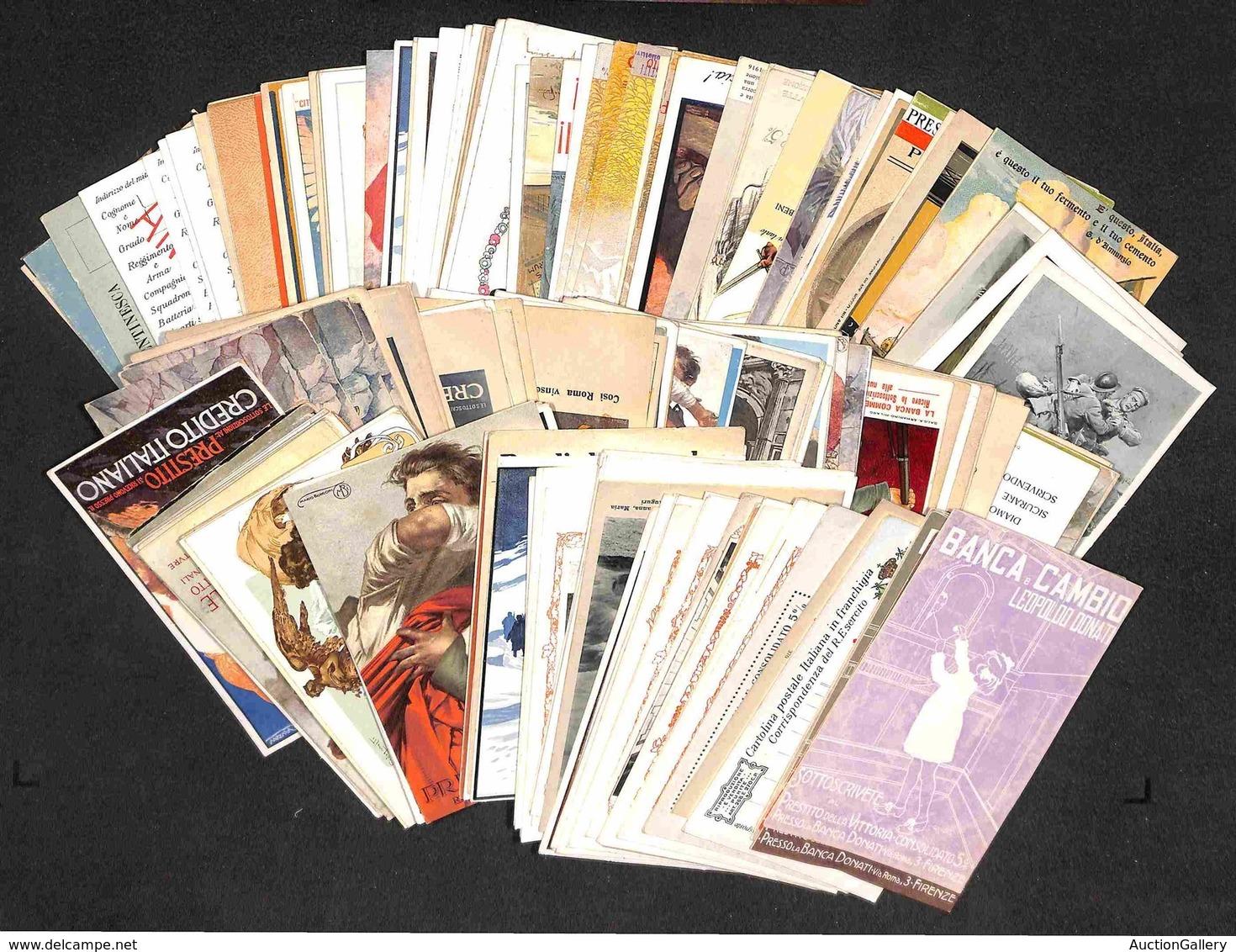 VARIE - Prestito Nazionale/Guerra - Lotto Di 197 Cartoline Nuove E Usate Con Interessanti Presenze - Merita Esame - Stamps
