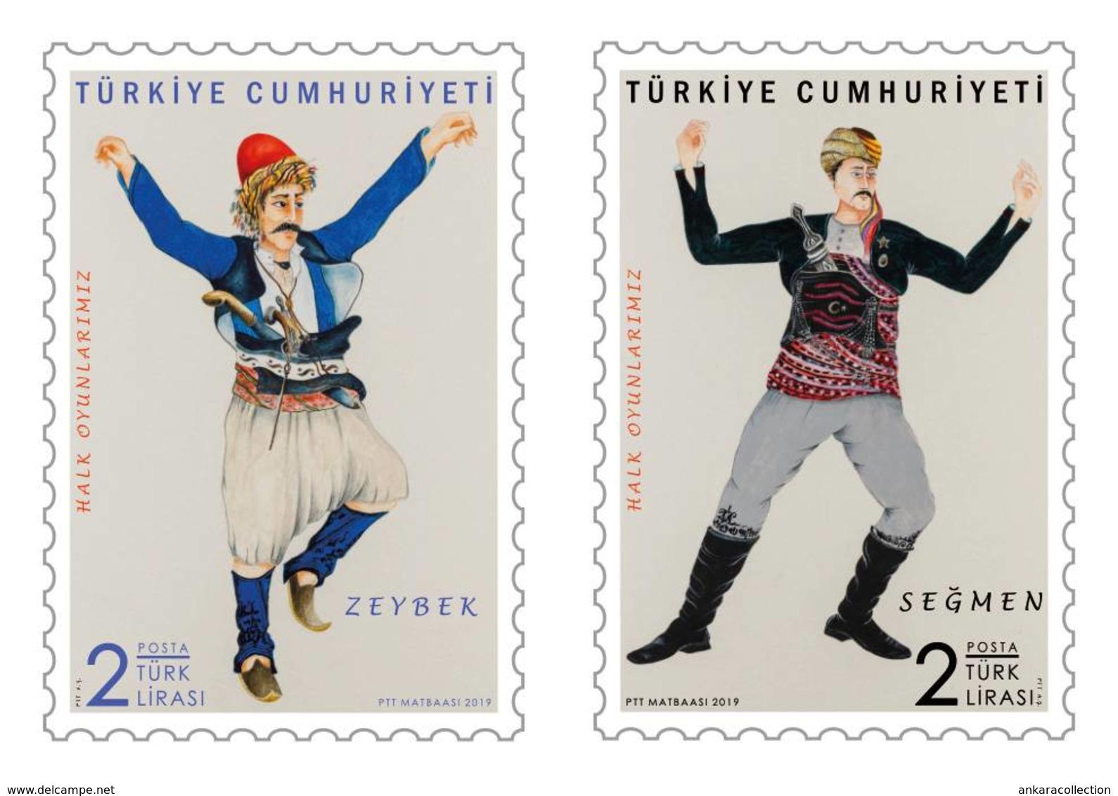 AC - TURKEY STAMP - TURKISH FOLK DANCES MNH 05 FEBRUARY 2019 - 1921-... República