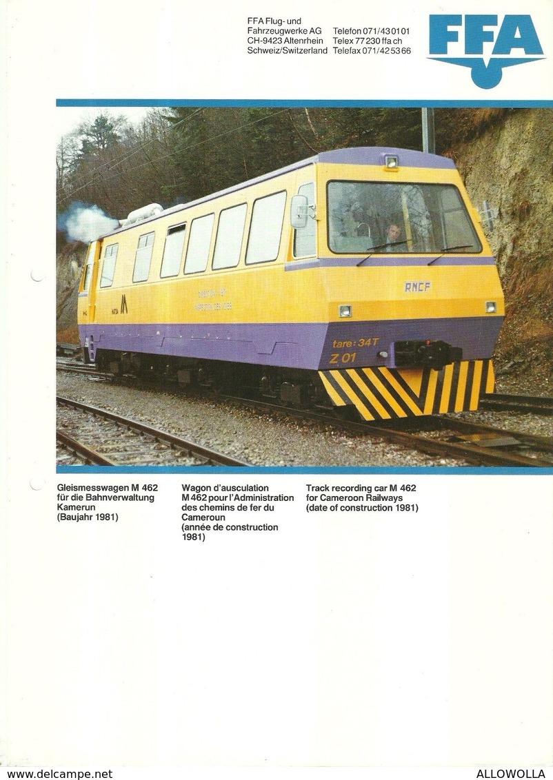 """4483 """"FFA-GLEISMESSWAGEN M 462-WAGON D'AUSCULATION-TRACK RECORDING"""" ORIGINALE - Ferrovie"""