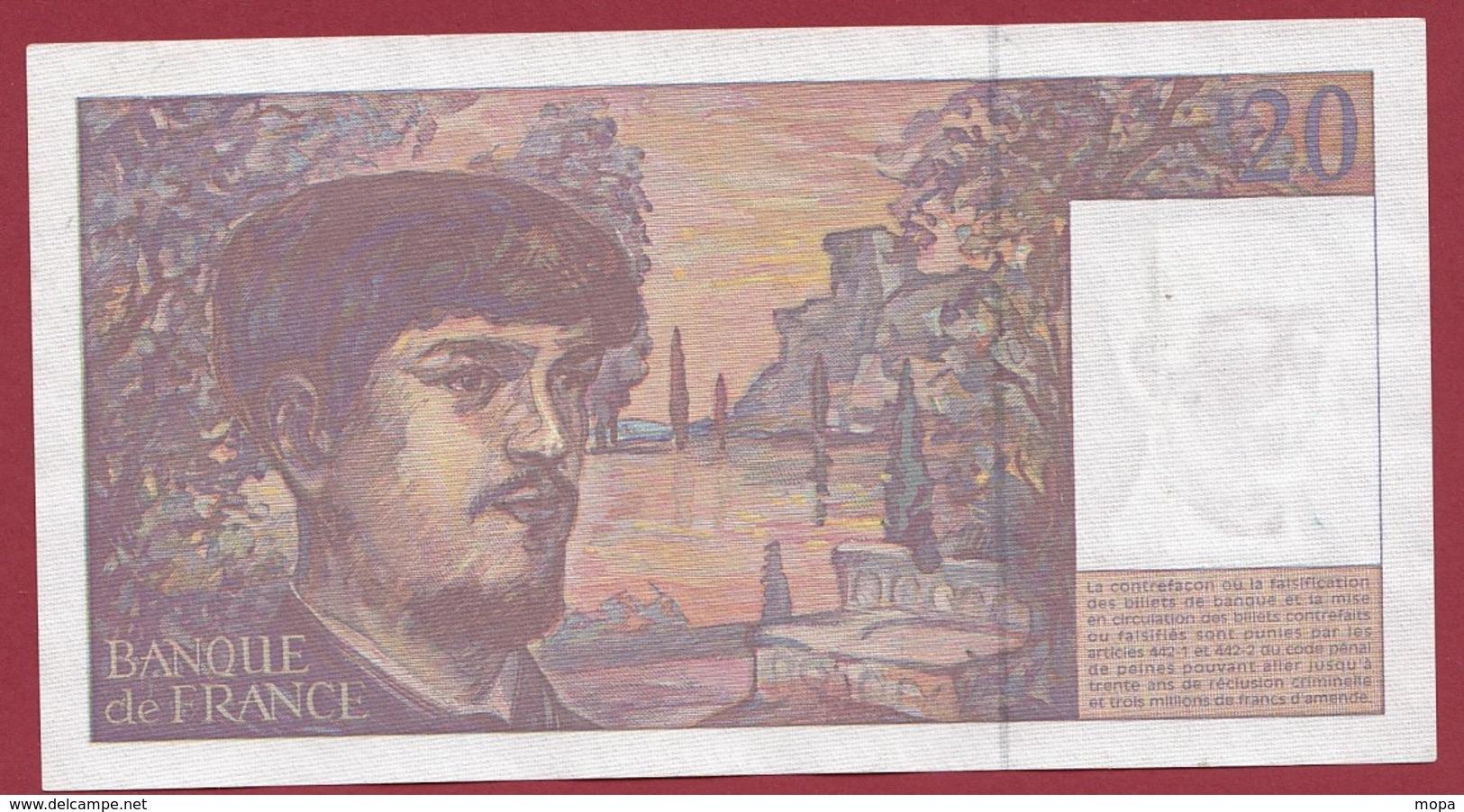 """20 Francs """"Debussy"""" 1997 ---XF/SUP+----ALPH.Q.053 - 1962-1997 ''Francs''"""