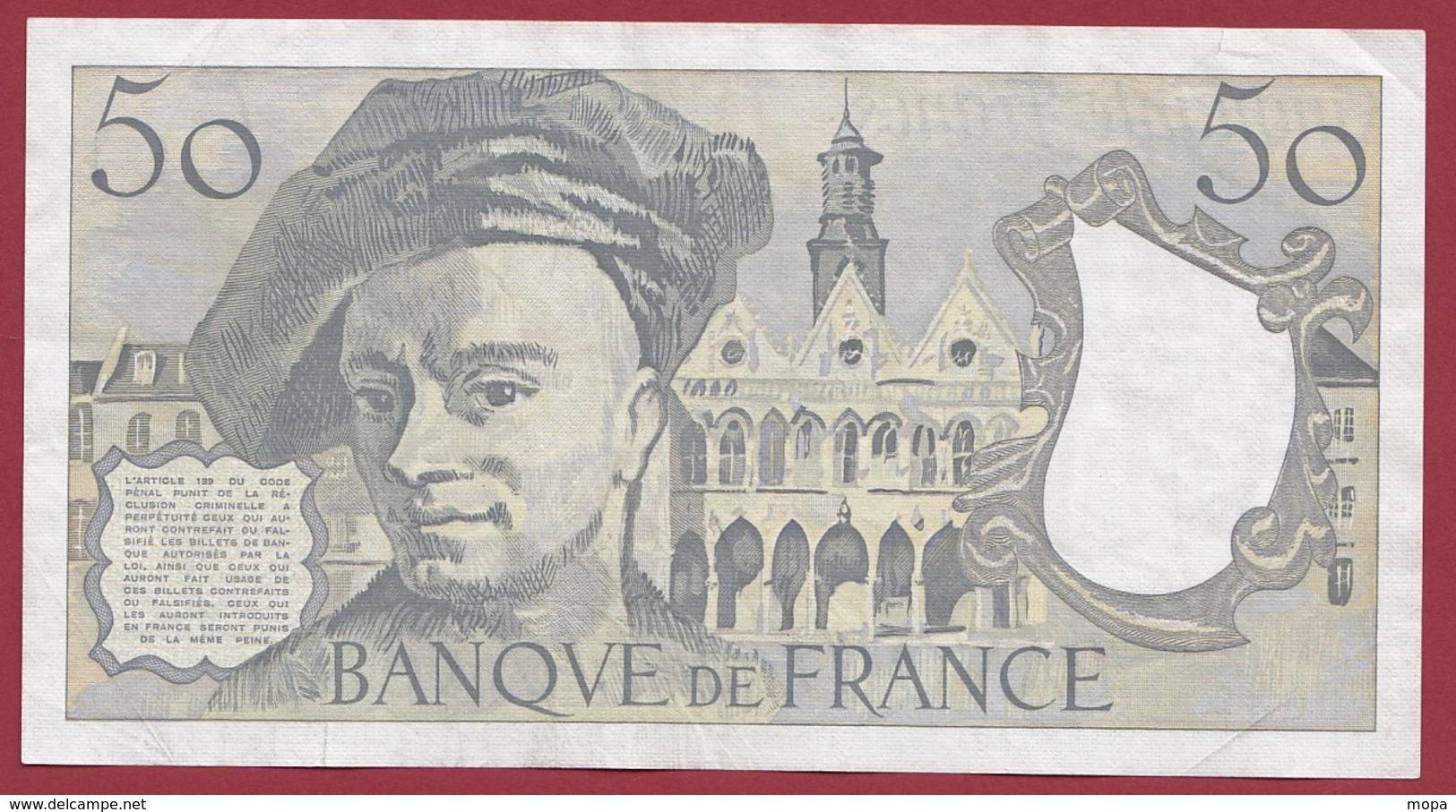 """50 Francs """"Quentin De La Tour"""" 1990 ---XF/SUP+----ALPH.C.61 - 50 F 1976-1992 ''Quentin De La Tour''"""