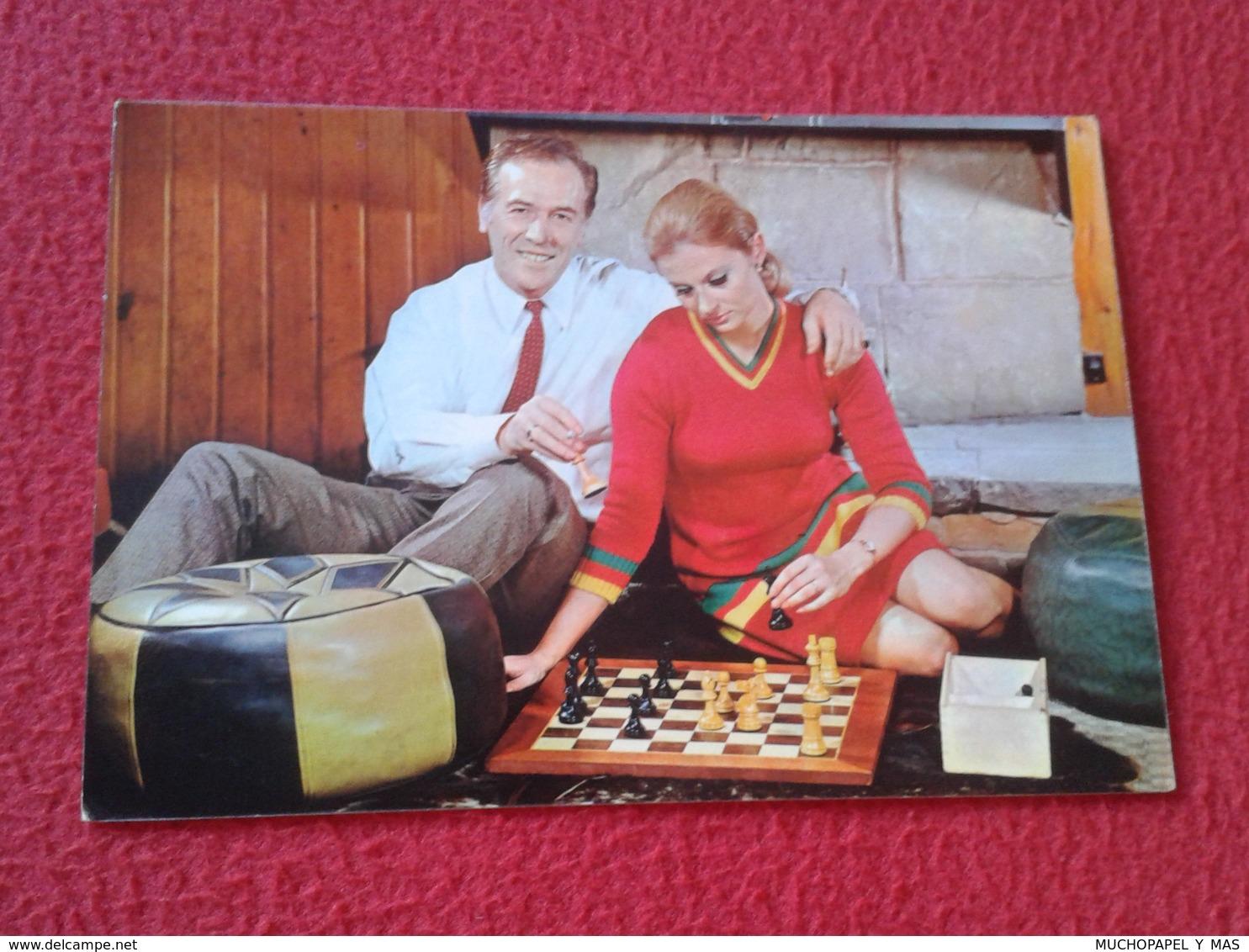 POSTAL POST CARD AJEDREZ CHESS Échecs SCHACH XADREZ GAME PARTIDA PLAYING MAN WOMAN PAREJA MATRIMONIO COUPLE VER FOTOS - Postcards