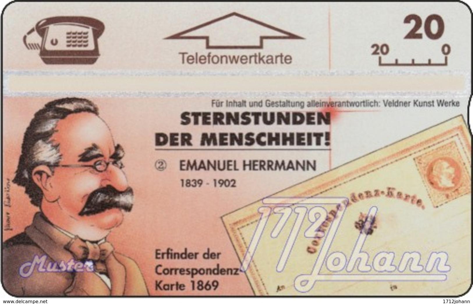 AUSTRIA Private: *Sternstunden 2 - Correspondenzkarte* - SAMPLE [ANK P261] - Oesterreich
