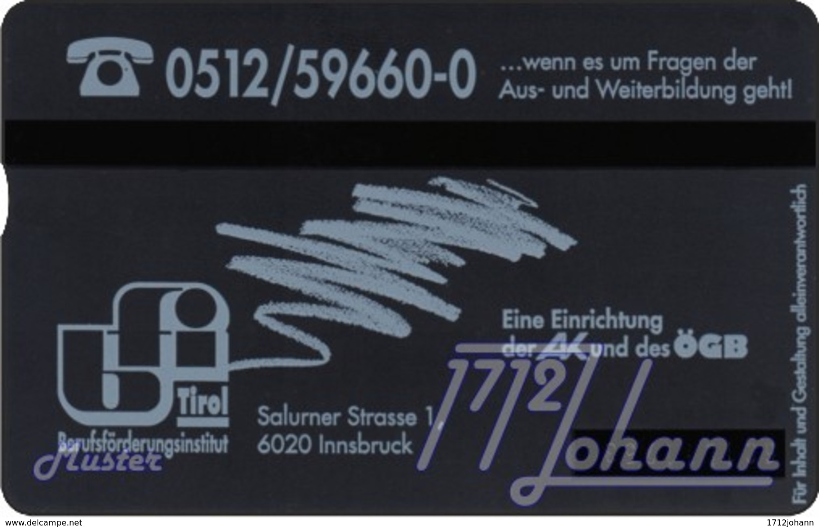 """TWK Österreich Privat: """"BFI Tirol - 50E"""" Gebr. - Oesterreich"""