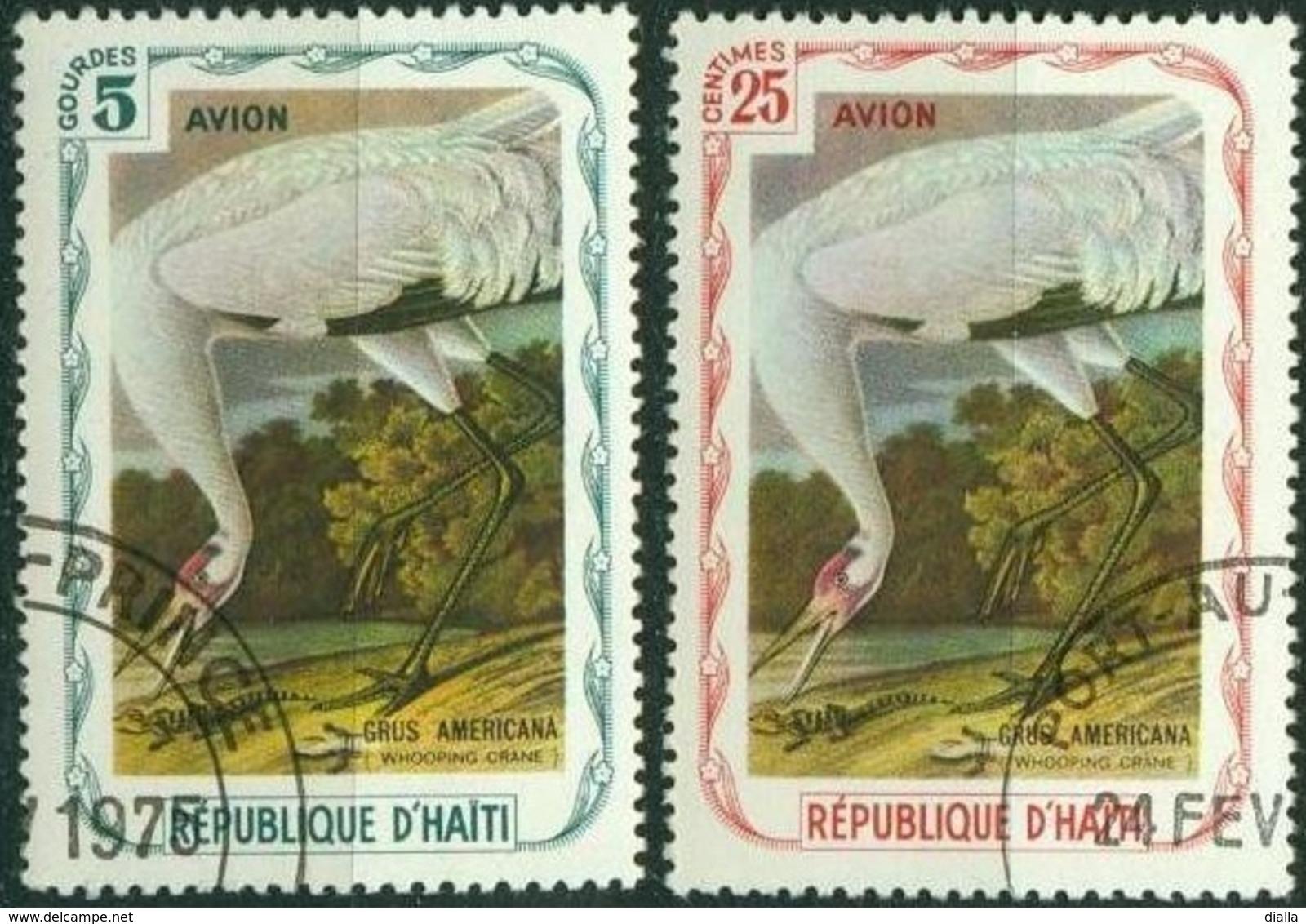 Haiti 1975, Grus Oiseau - Bird Crane - Fantasie Vignetten