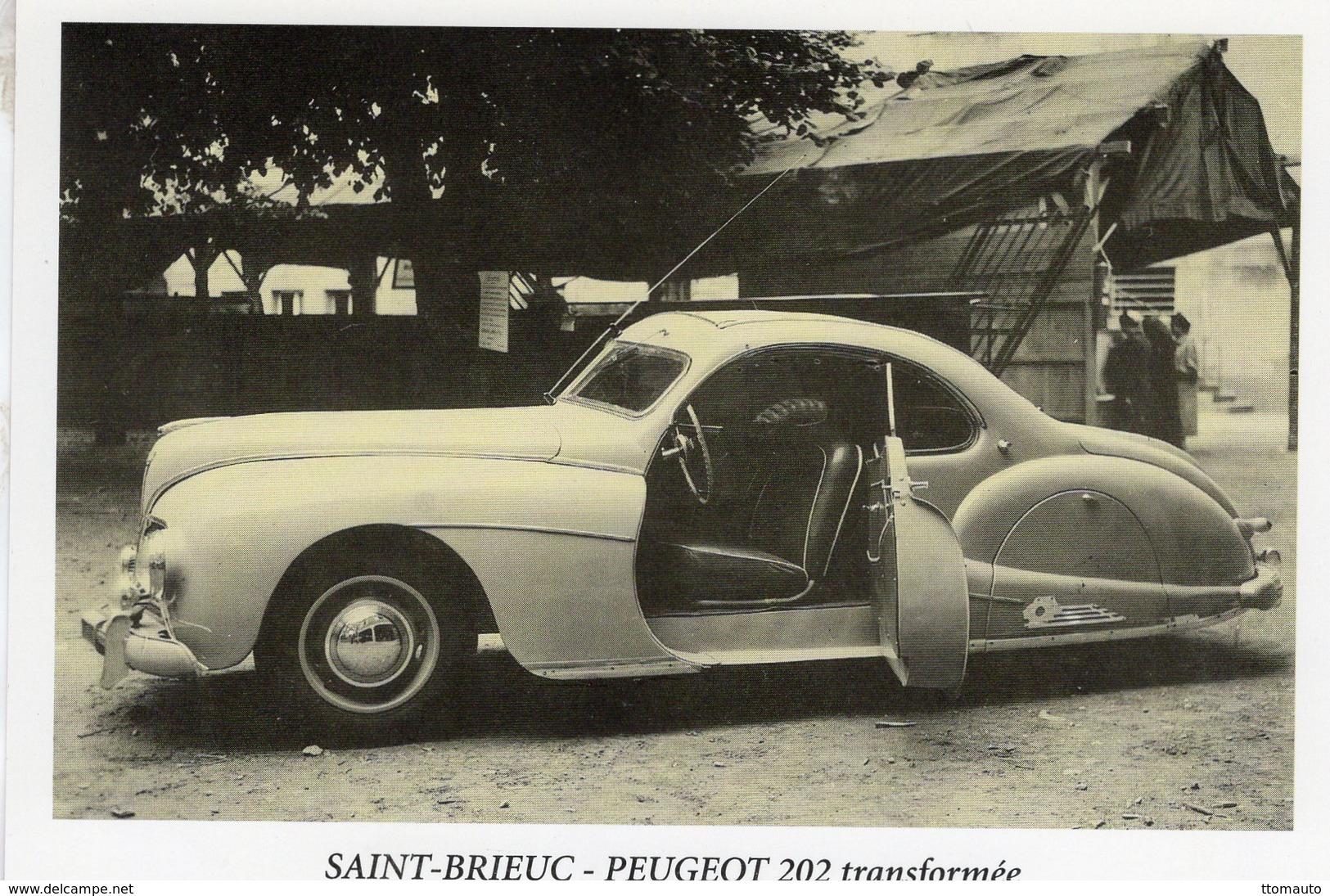 Peugeot 202  Coupe Transformée  -  Saint-Brieuc  - Carte Postale - Turismo