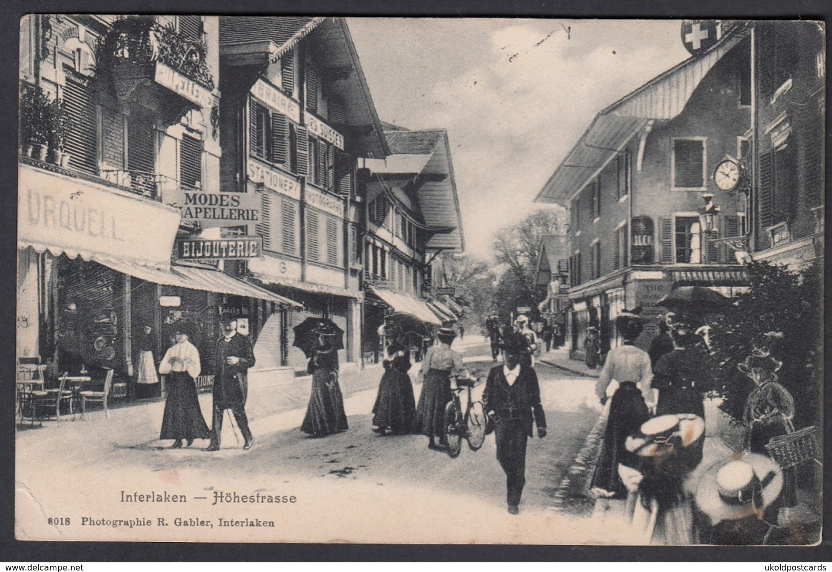 CPA  Suisse, INTERLAKEN, Hohestrasse, 1913 - BE Berne