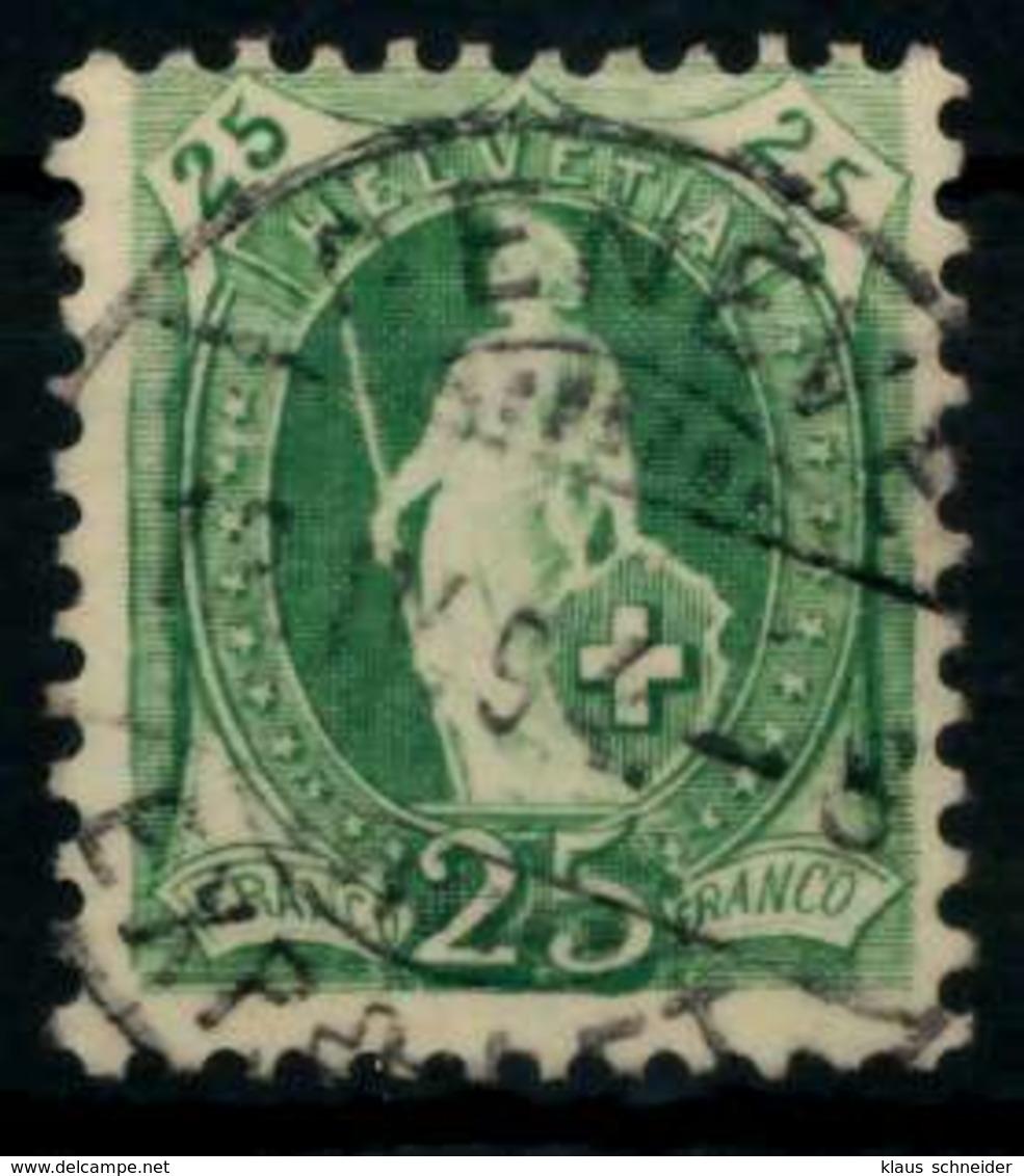 SCHWEIZ ST.HELV Nr 59YC Gestempelt X7469EE - 1882-1906 Armoiries, Helvetia Debout & UPU