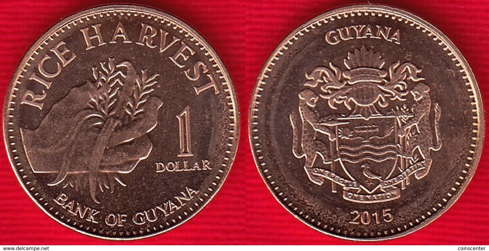 Guyana 1 Dollar 2015 Km#50 UNC - Guyana