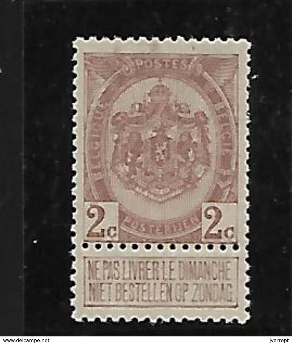 België  N° 82  Xx Postfris  Cote 65 Euro - 1893-1907 Wappen