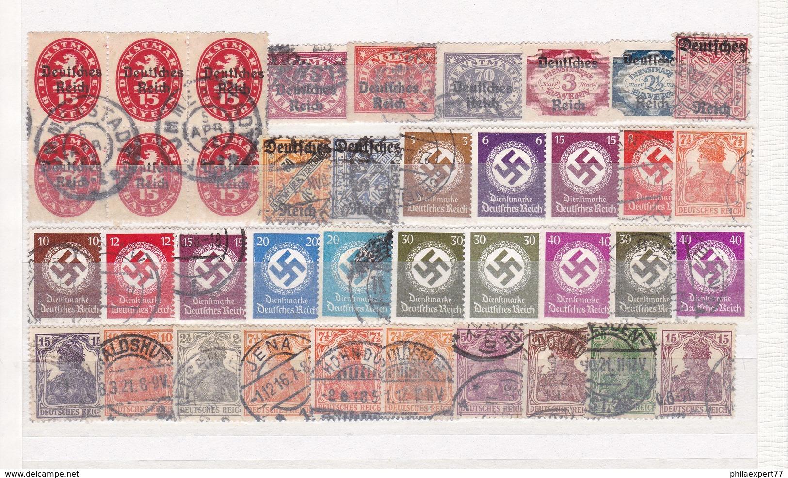 Deutsches Reich - Sammlungsreste - Ungebr./Gest. - 6. - Gebraucht