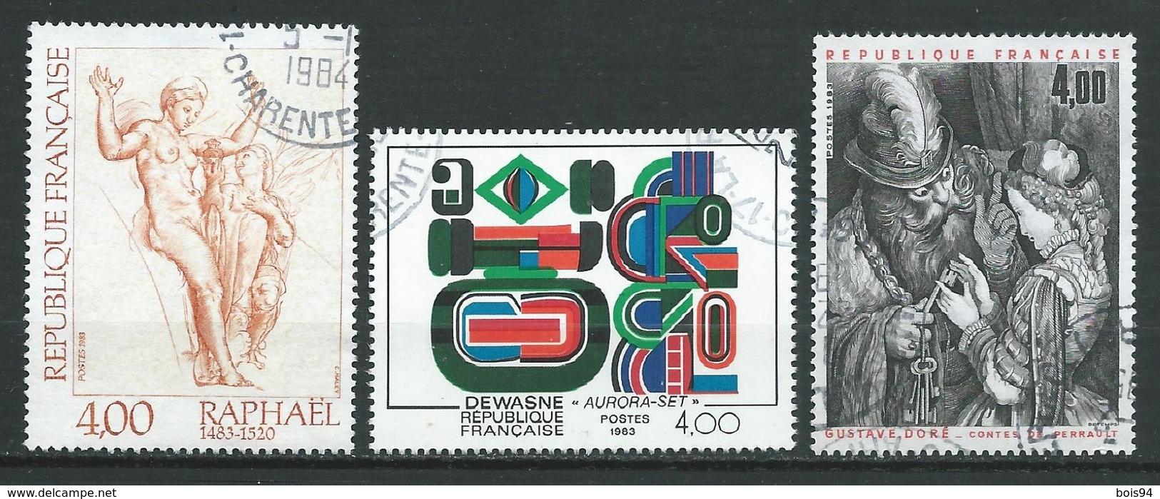 FRANCE 1983 . N°s 2263 , 2264 Et 2265 . Oblitérés . - France