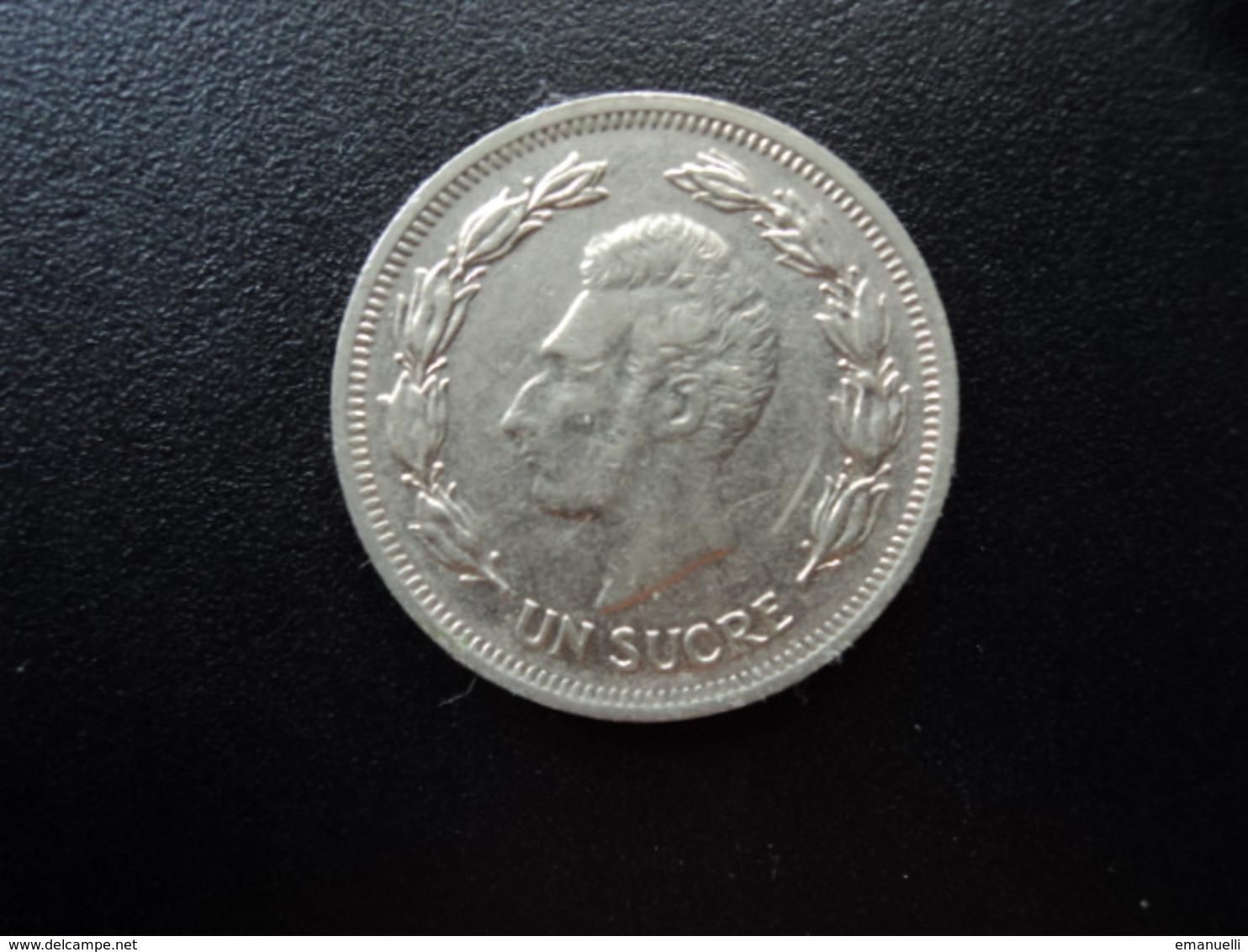 ÉQUATEUR : 1 SUCRE   1977    KM 83     SUP - Ecuador