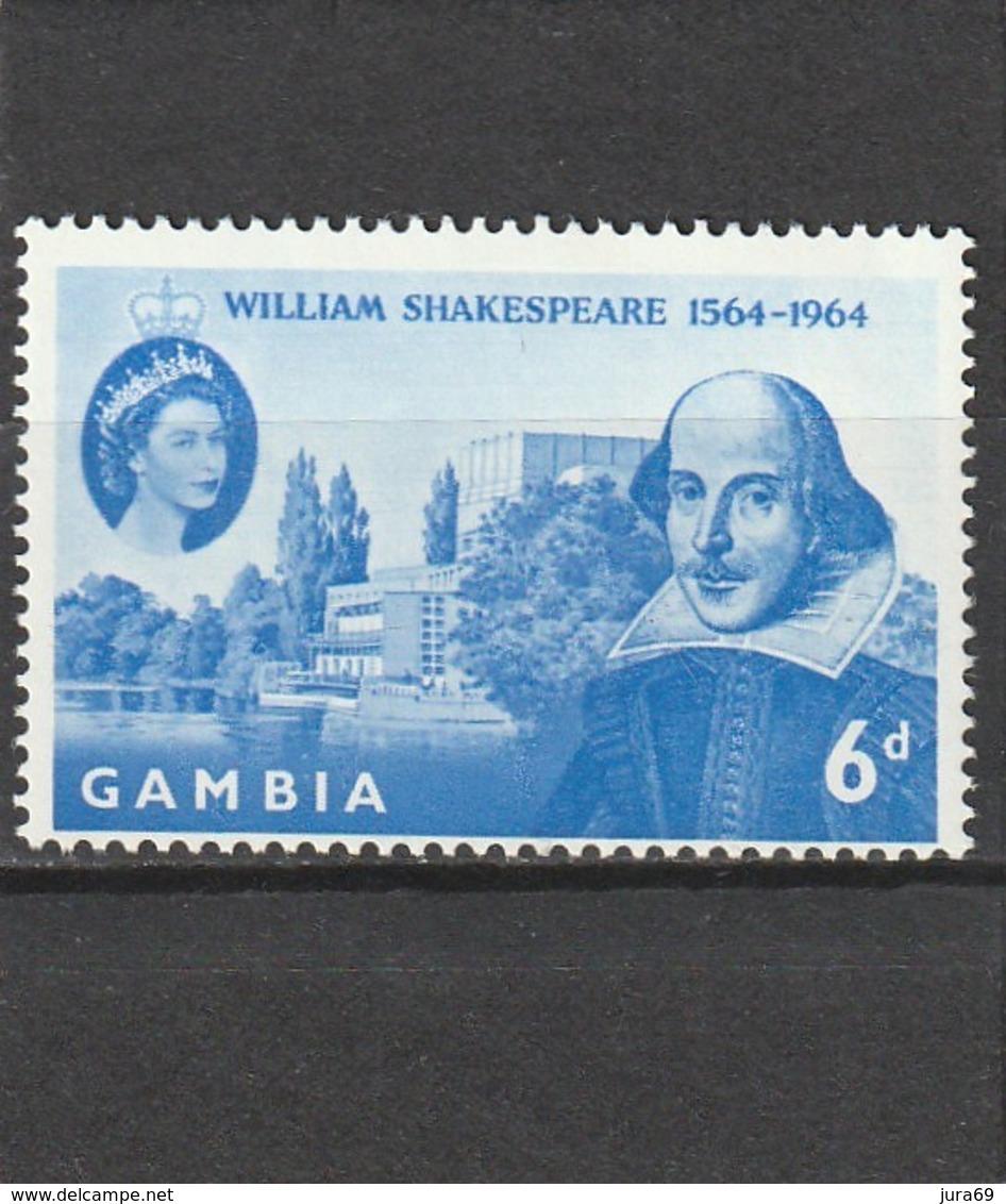 Gambie  Neuf *  1964  185  Anniversaire Naissance De William Shakespeare - Gambie (1965-...)