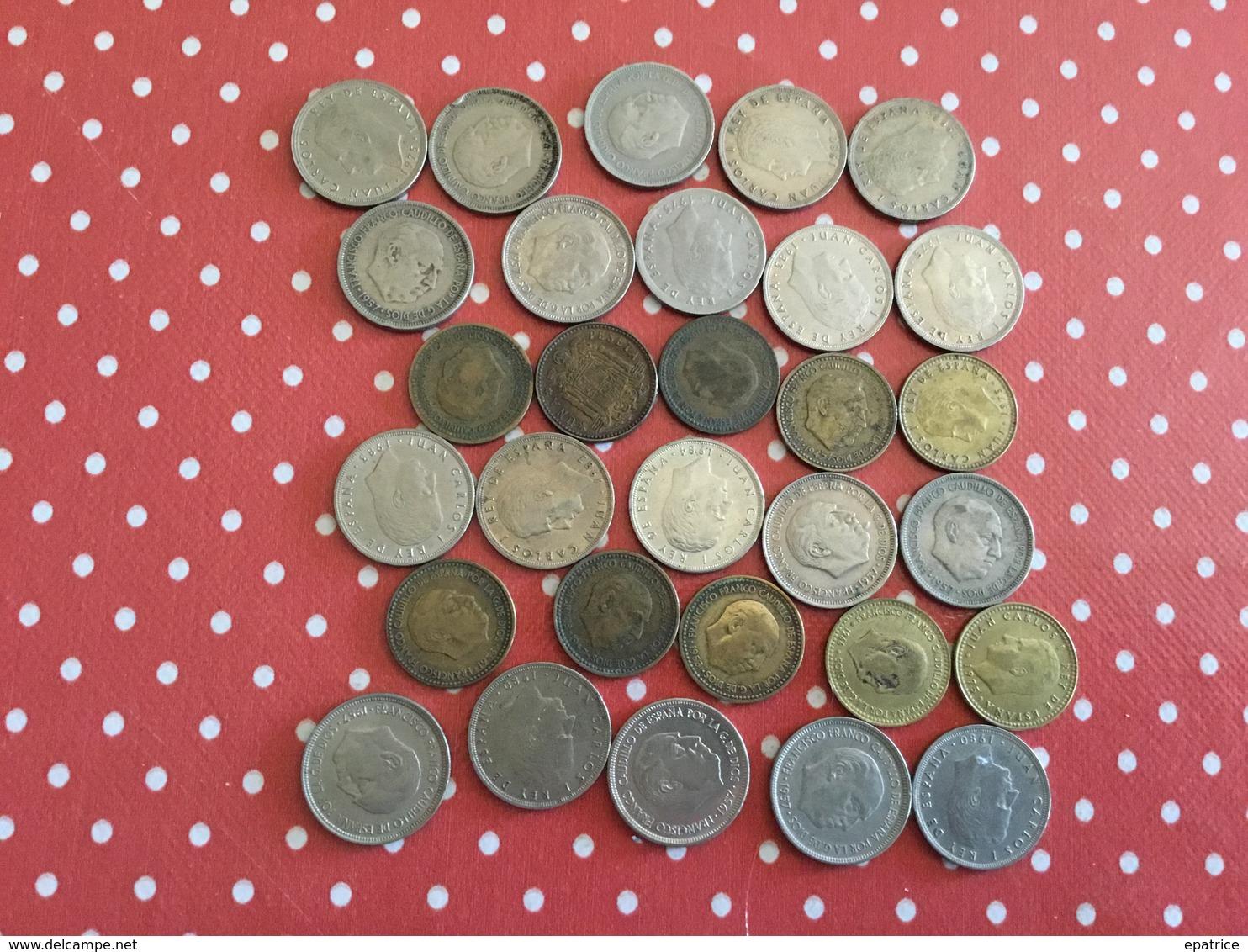 LOT DE 30 PIÈCES ESPAGNOLES - Kiloware - Münzen